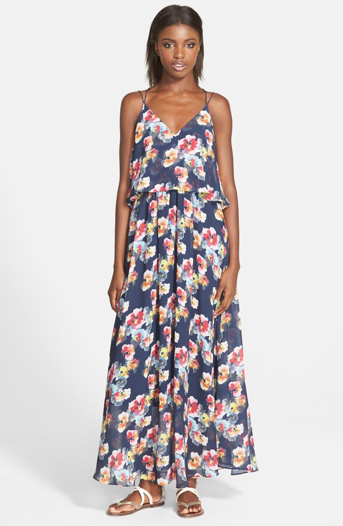 Alternate Image 1 Selected - Lucy Paris 'Bonnie' Floral Maxi Dress