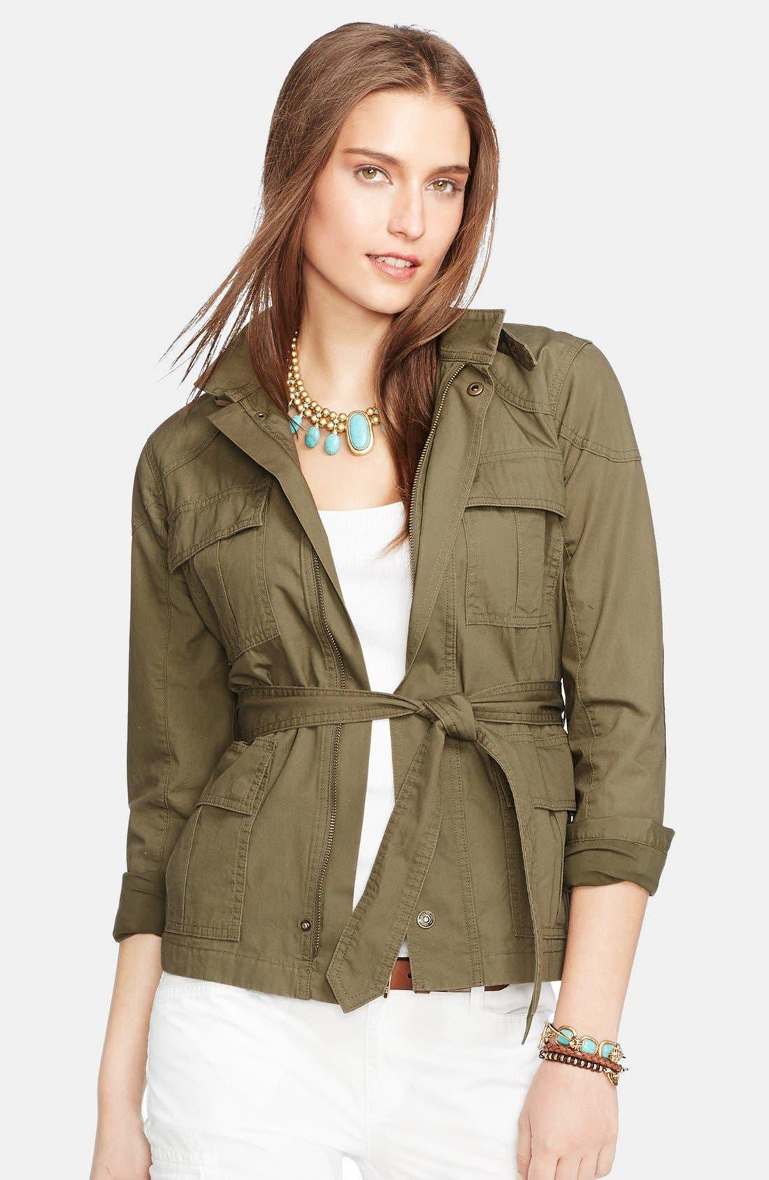 Alternate Image 1 Selected - Lauren Ralph Lauren Cotton Military Jacket