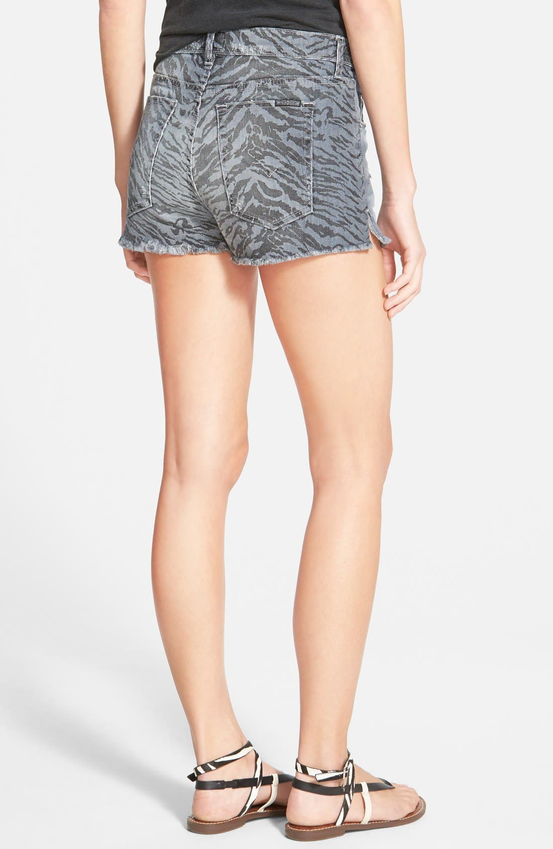 Alternate Image 2  - Hudson Jeans 'Tori Vice Versa' Cutoff Denim Shorts (Twin Coast)