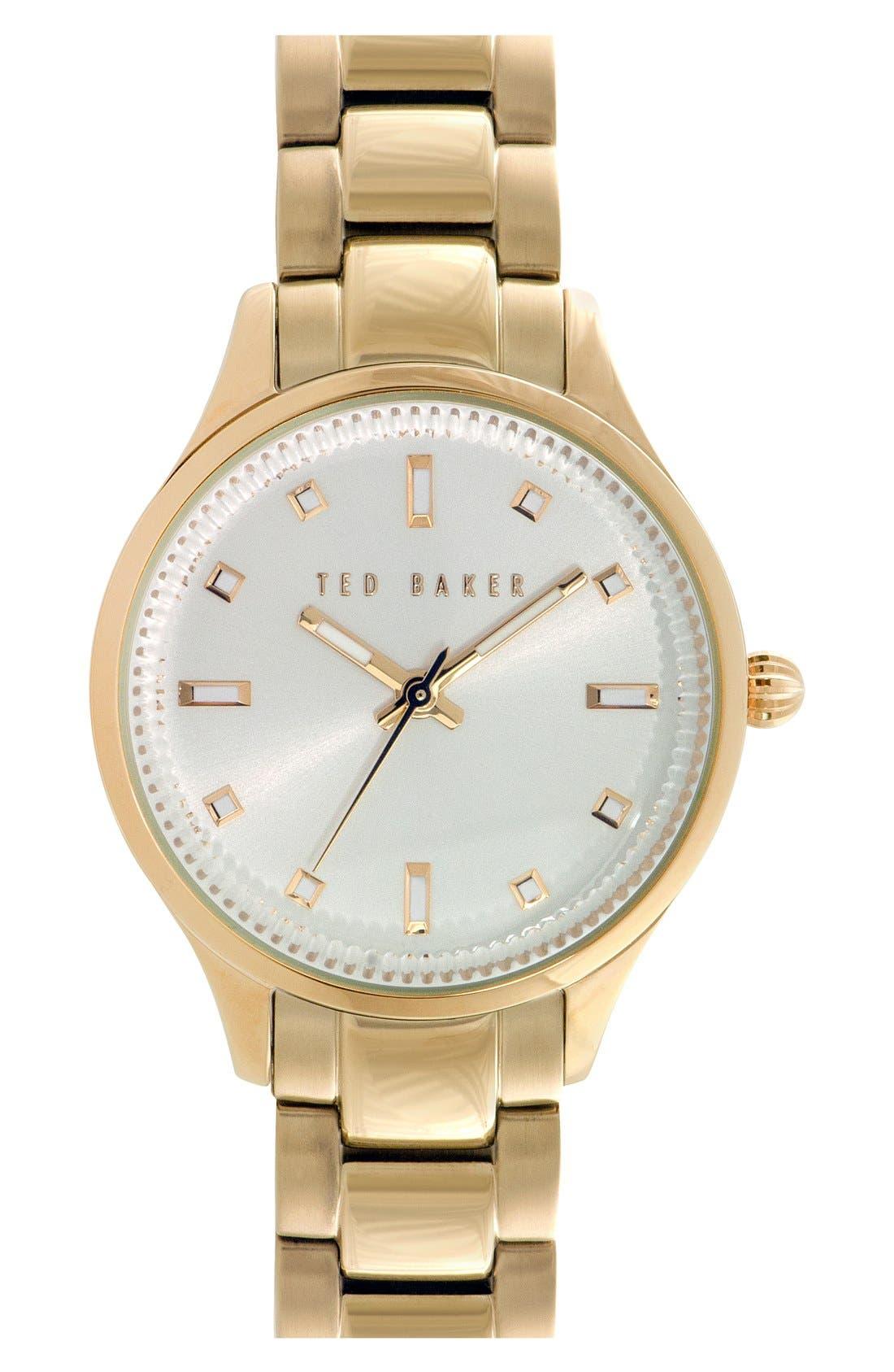 Alternate Image 1 Selected - Ted Baker London 'Dress Sport' Bracelet Watch, 32mm