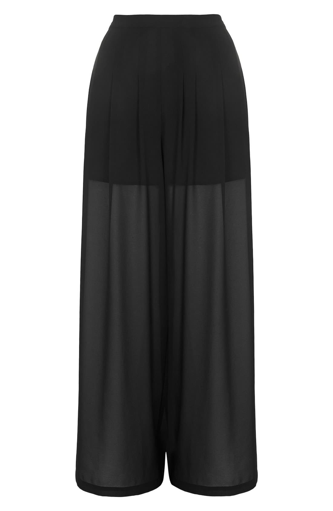 Alternate Image 4  - KENDALL + KYLIE at Topshop Wide Leg Palazzo Trousers