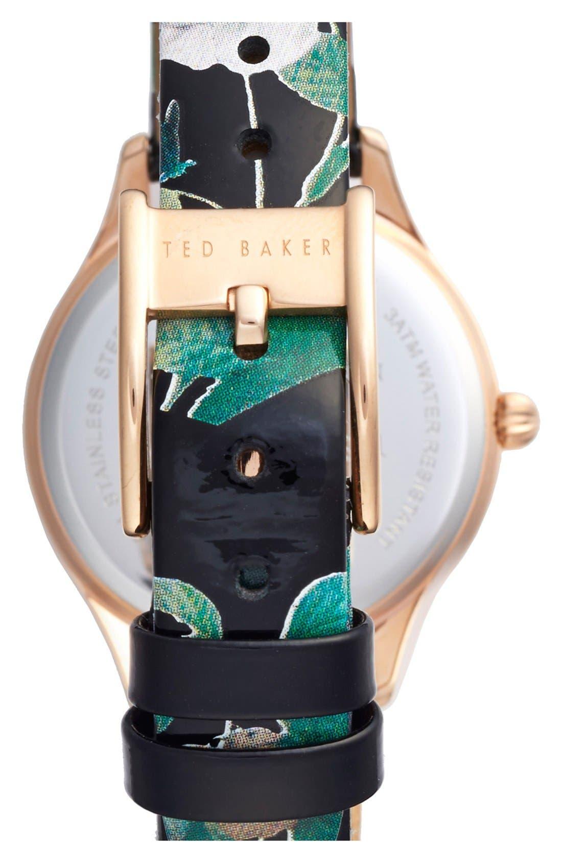 Alternate Image 2  - Ted Baker London 'Dress Sport' Patent Leather Strap Watch, 32mm