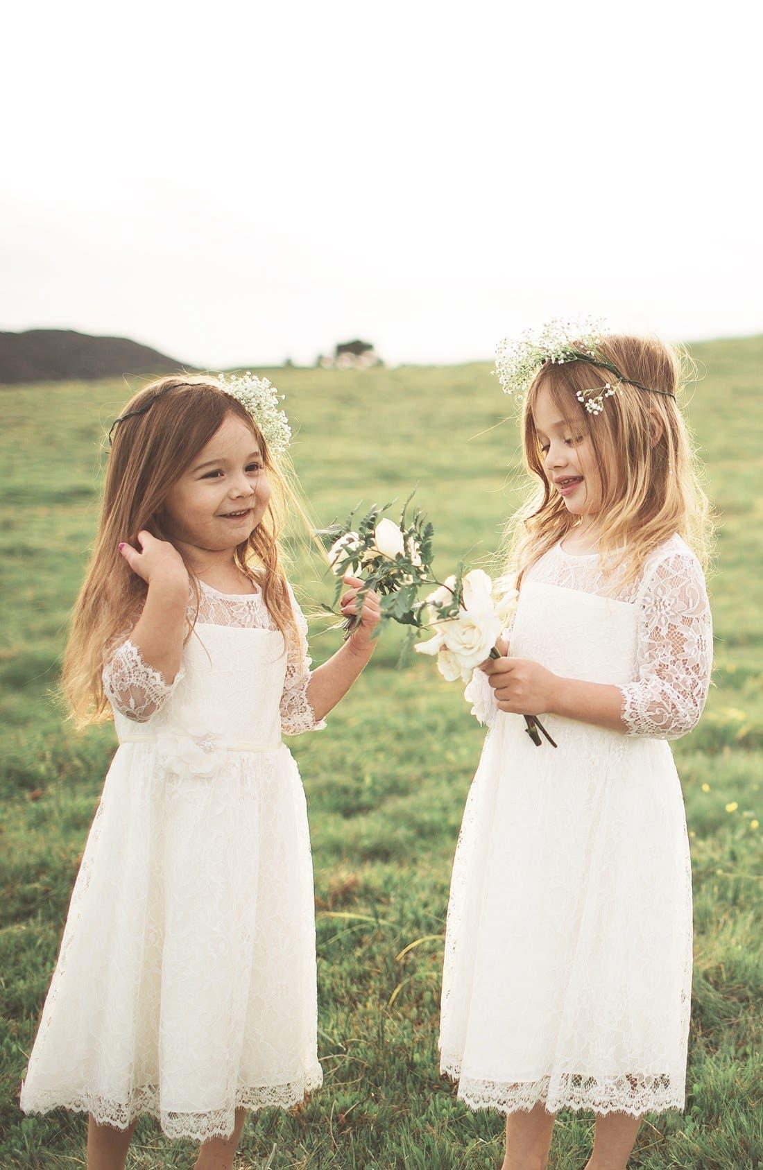 Alternate Image 6  - Jenny Yoo 'Annie' Floral Appliqué Lace Dress (Toddler, Little Girls & Big Girls)