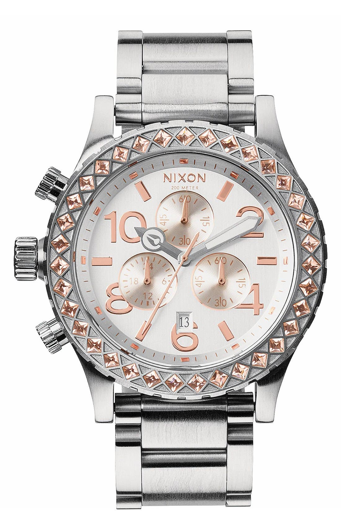 Alternate Image 1 Selected - Nixon 'The 42-20 Chrono' Crystal Bracelet Watch, 42mm
