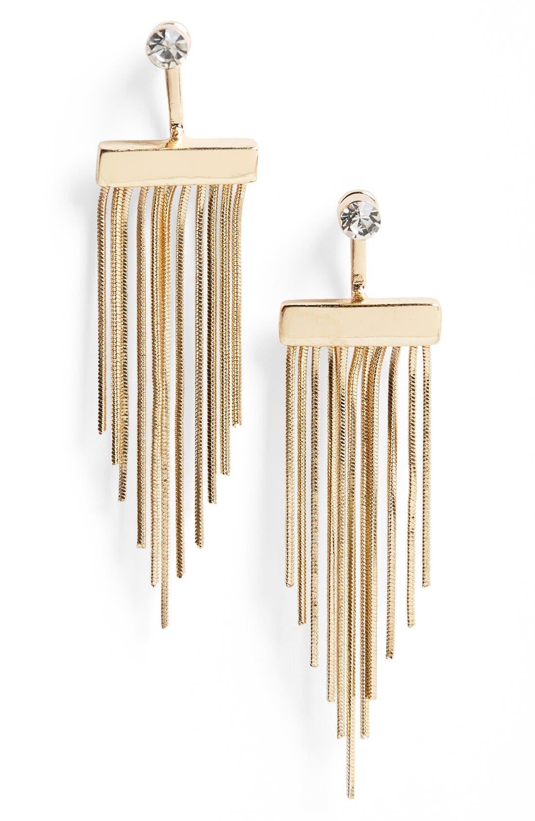 Alternate Image 1 Selected - Topshop Tassel Drop Earrings