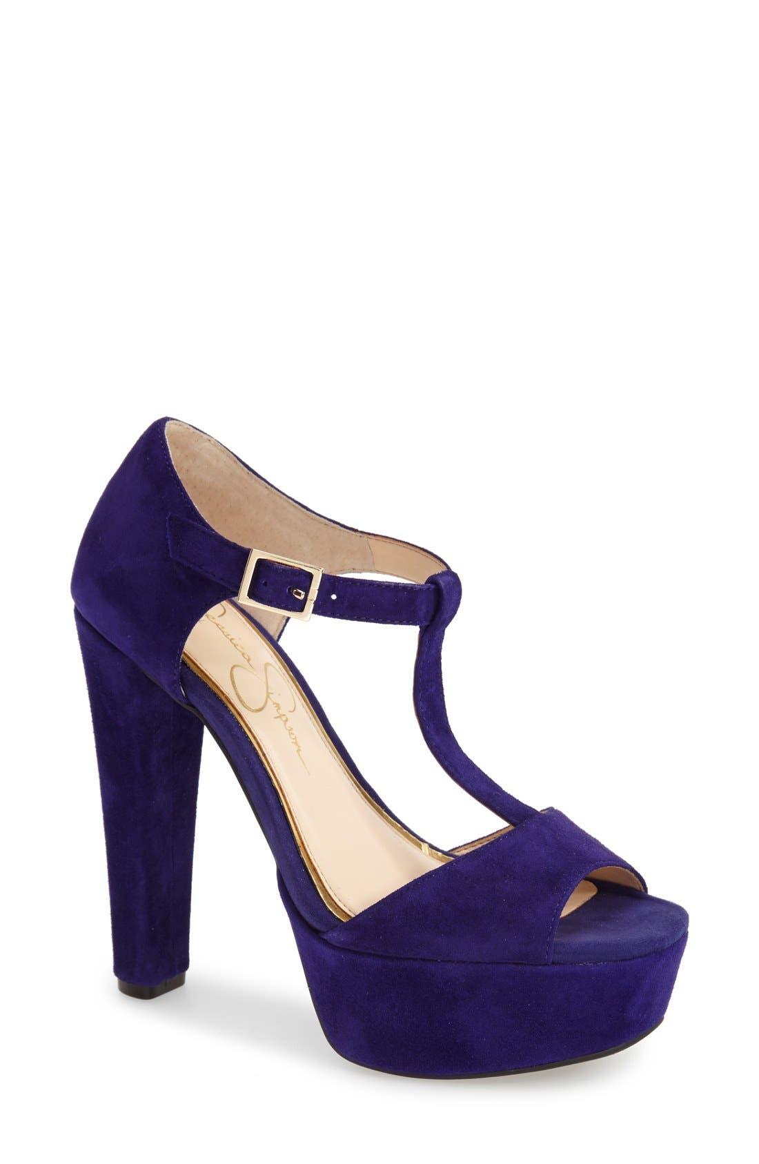 Alternate Image 1 Selected - Jessica Simpson 'Adelinah' T-Strap Platform Sandal (Women)