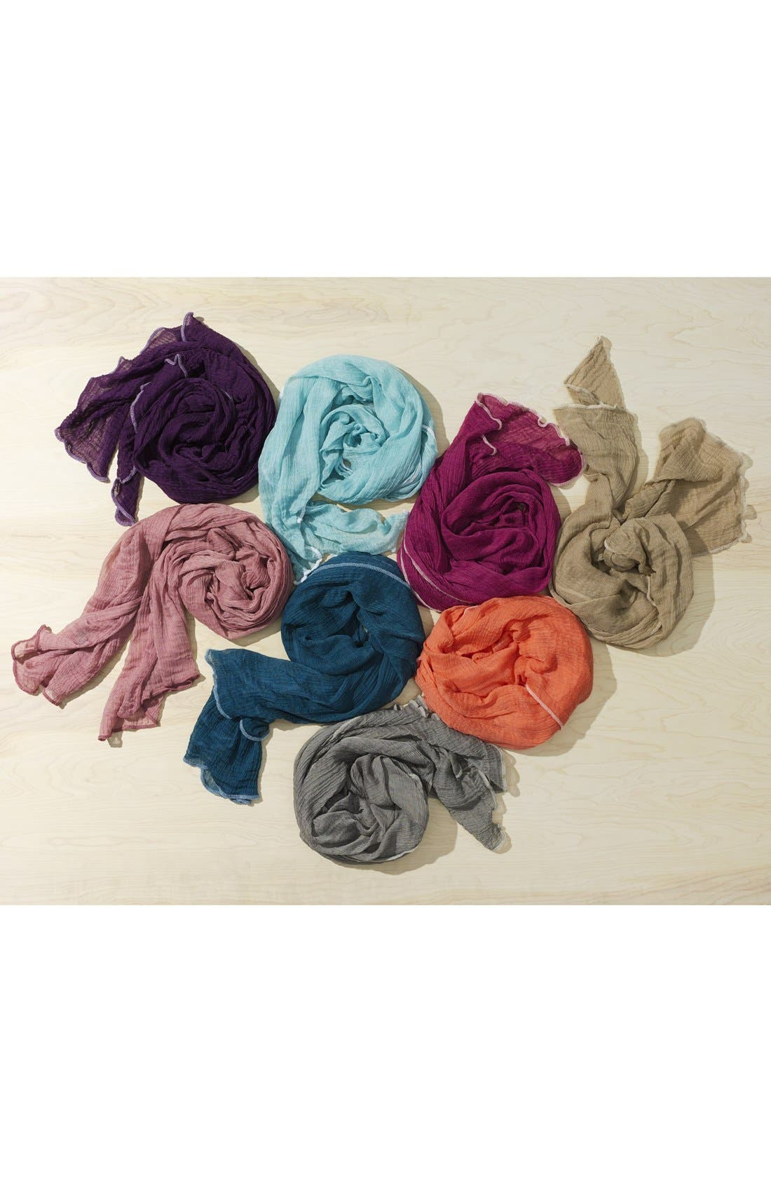 Alternate Image 2  - Roffe Accessories Crinkle Scarf
