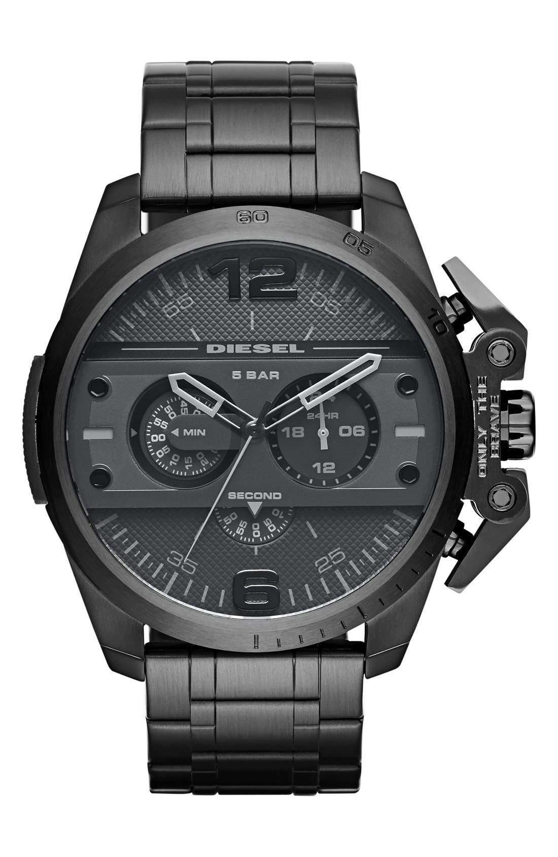 Alternate Image 1 Selected - DIESEL® 'Ironside' Chronograph Watch, 48mm