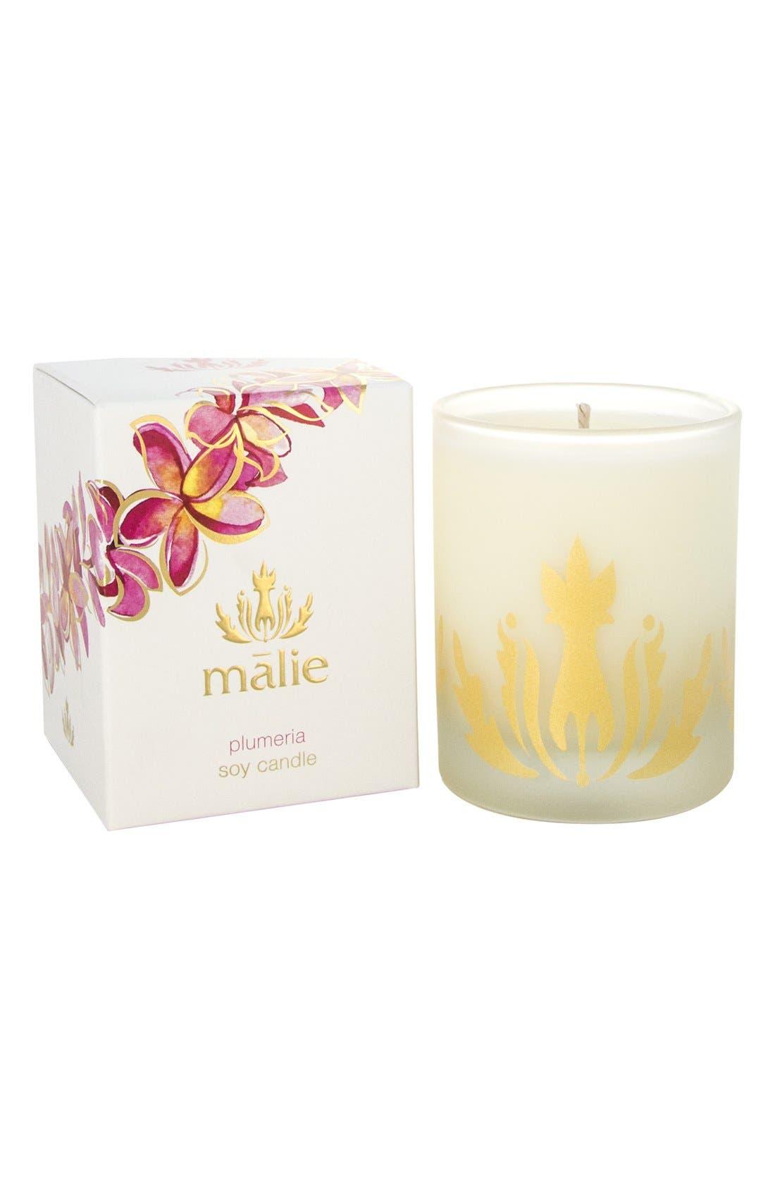 Alternate Image 1 Selected - Malie Organics Plumeria Organic Soy Candle