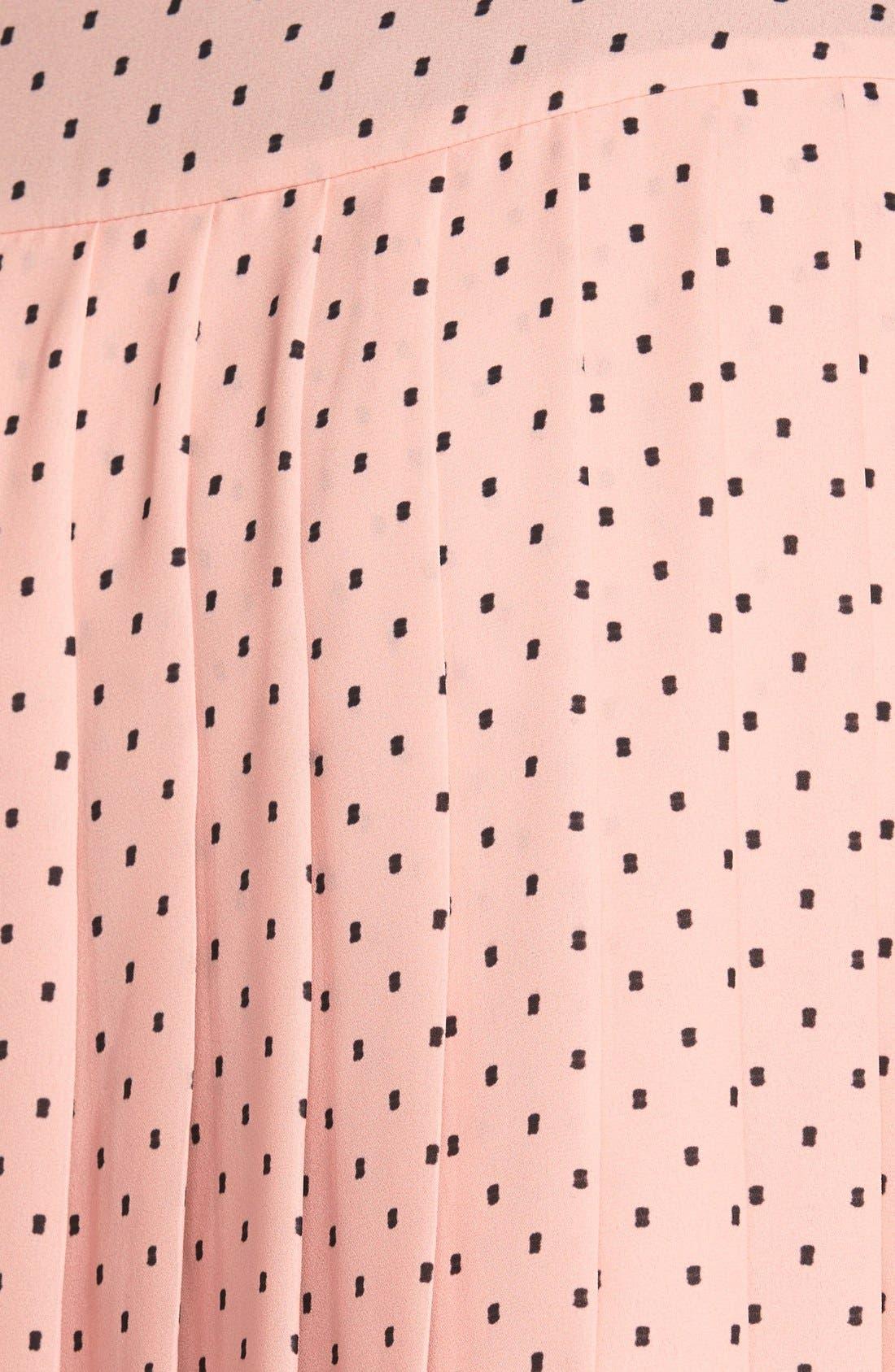 Alternate Image 3  - Halogen® Print Pleat Drop Yoke Skirt (Regular & Petite)