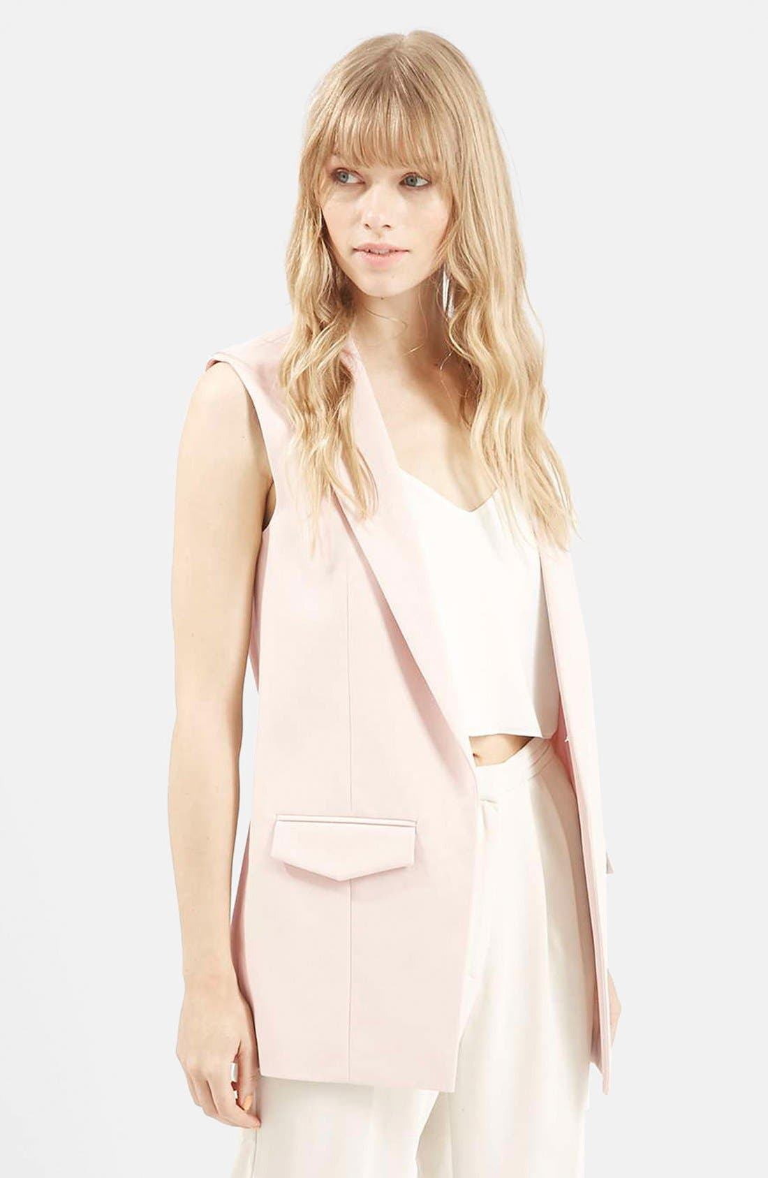 Main Image - Topshop 'Holly' Sleeveless Jacket
