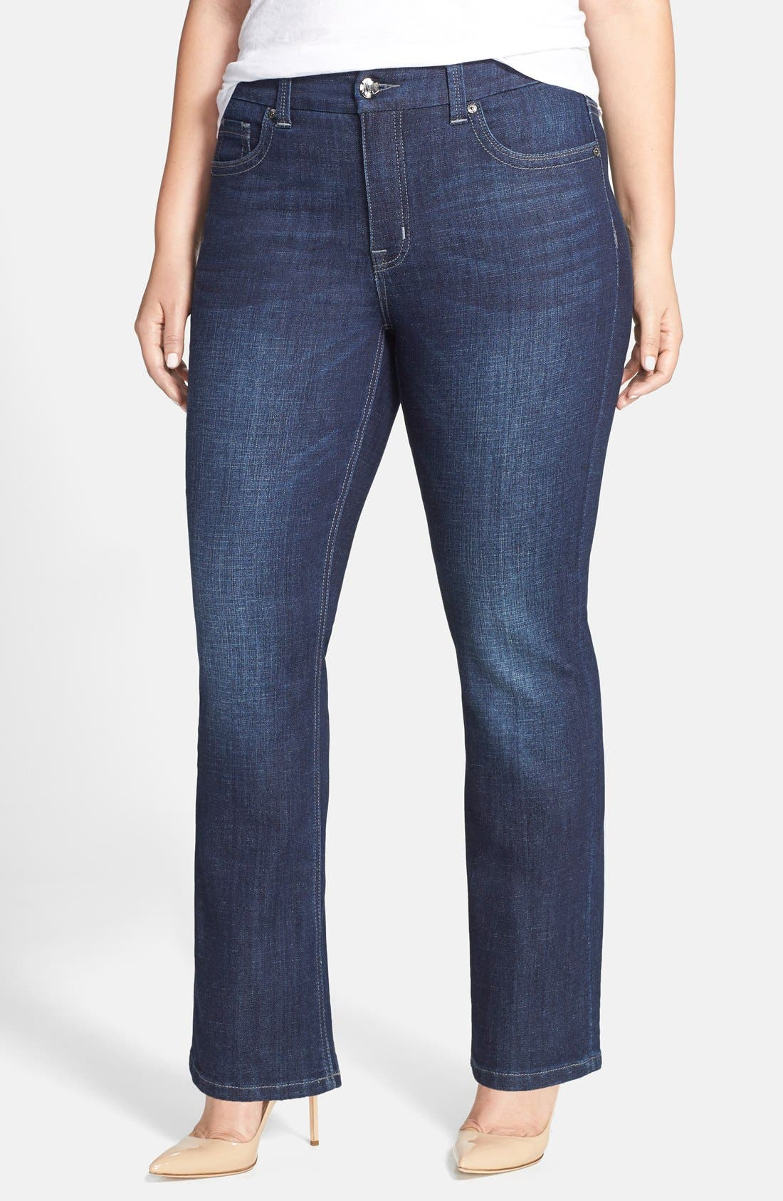 MELISSA MCCARTHY SEVEN7 Stretch Slim Bootcut Jeans