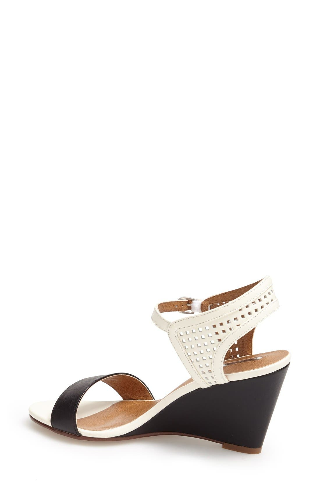 Alternate Image 2  - Halogen 'Helen' Perforated Leather Ankle Strap Wedge Sandal (Women)
