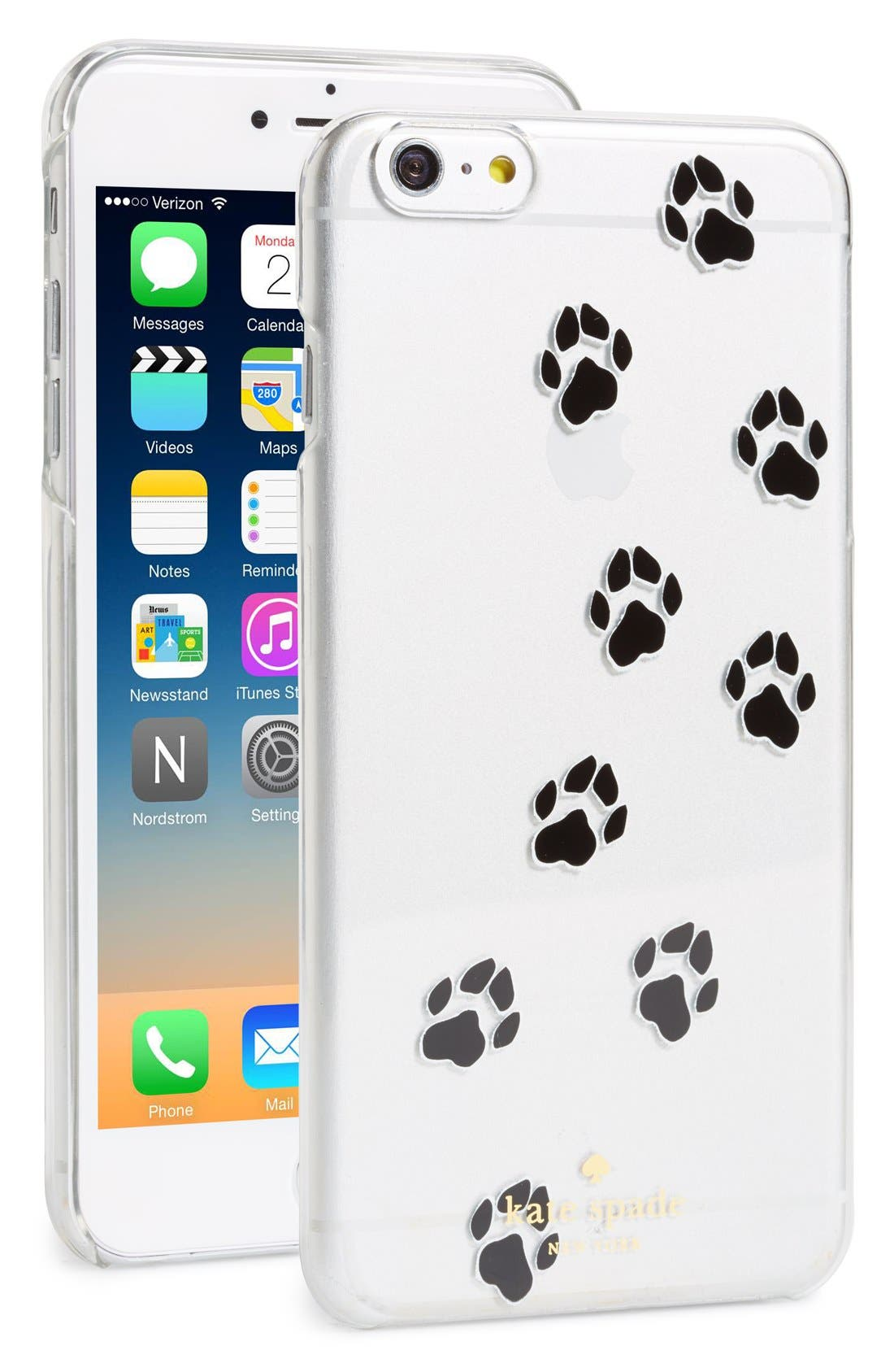Alternate Image 1 Selected - kate spade new york paw print iPhone 6 Plus & 6s Plus case