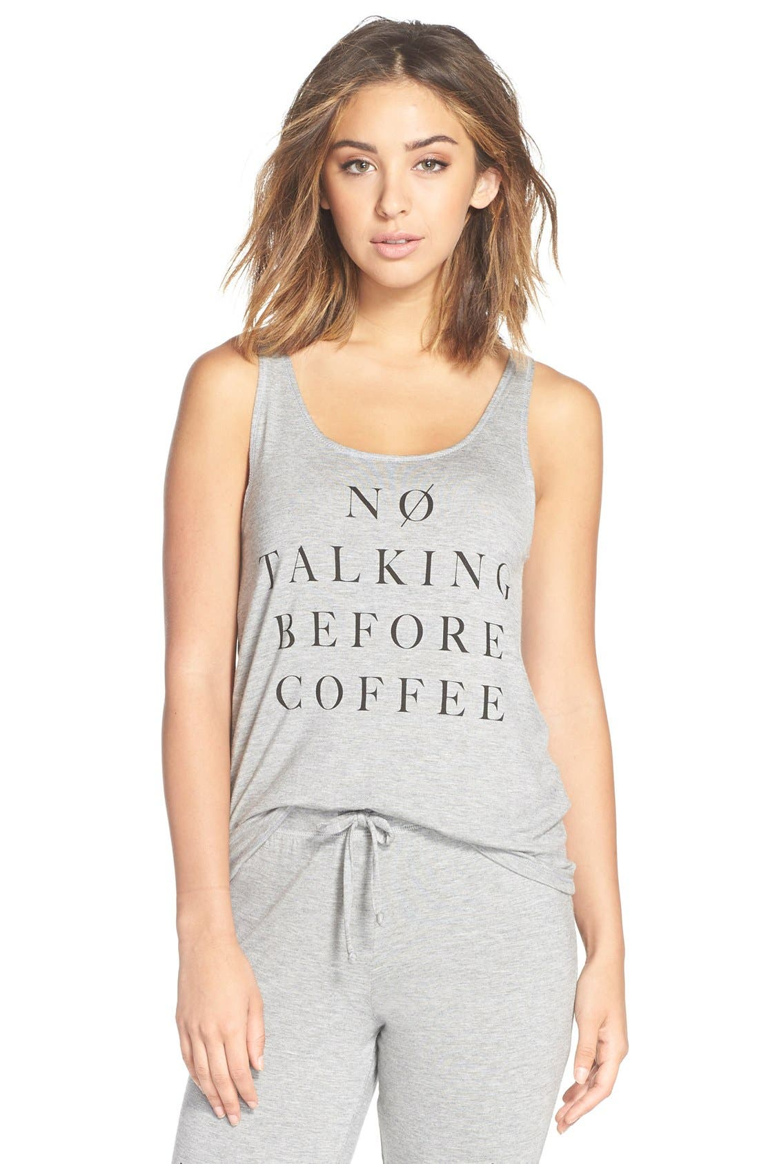 Alternate Image 1 Selected - Junk Food 'No Talking Before Coffee' Graphic Tank