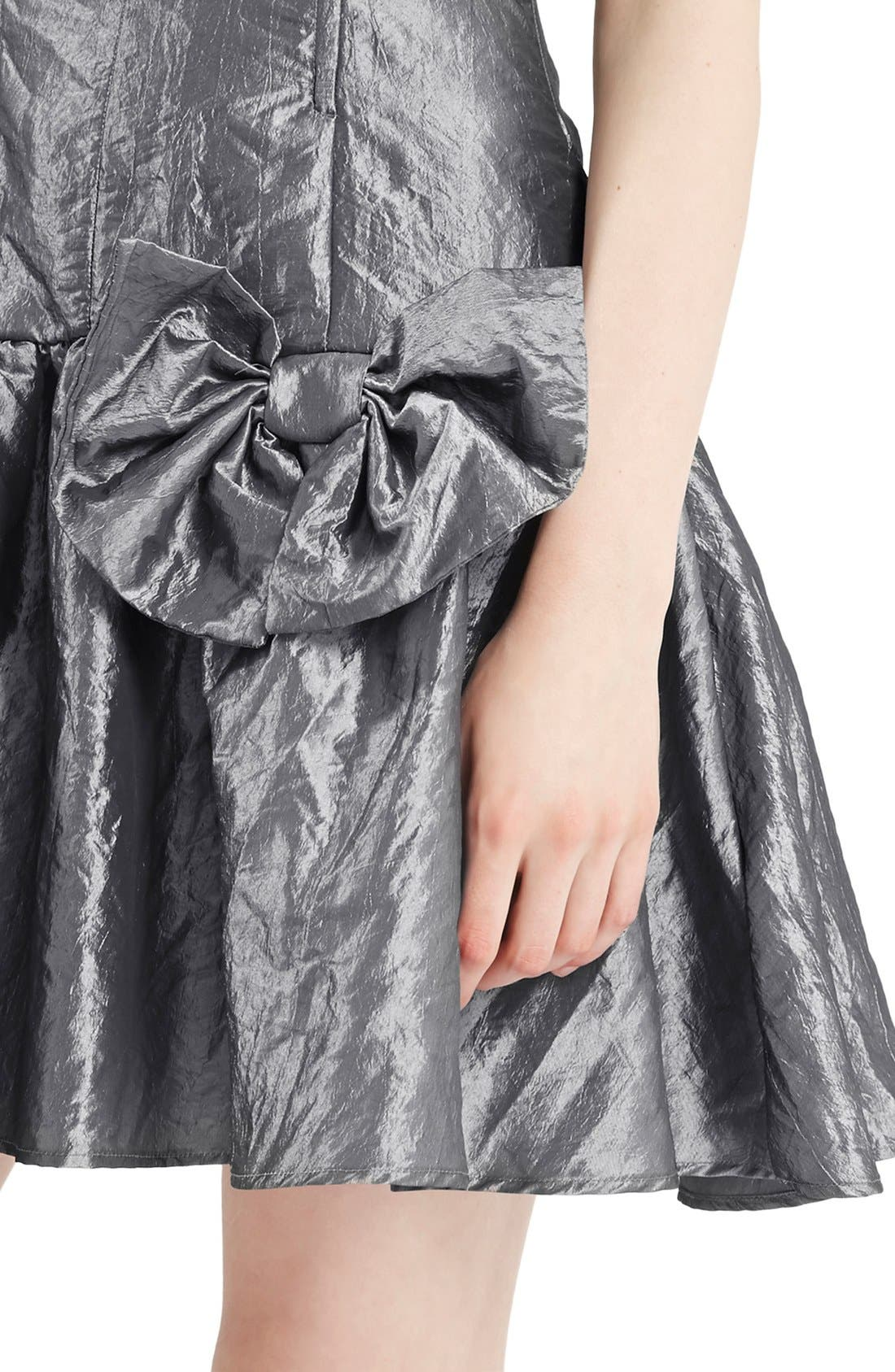 Alternate Image 4  - Topshop Archive Collection Taffeta Prom Dress