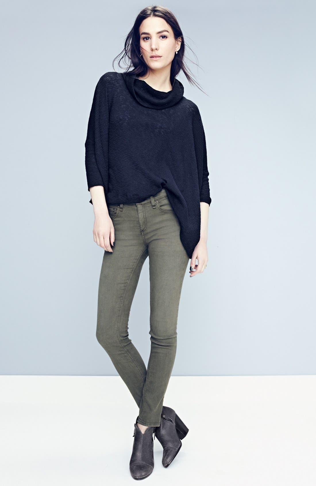 Alternate Image 5  - rag & bone/JEAN 'The Skinny' Jeans (Distressed Fatigue) (Nordstrom Exclusive)