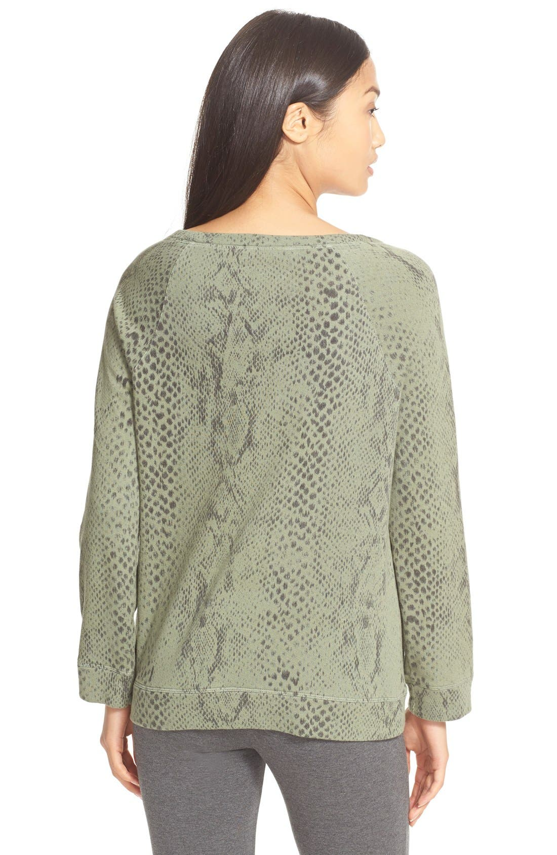 Alternate Image 2  - Soft Joie 'Darilynn B' Print Raglan Sleeve Sweatshirt