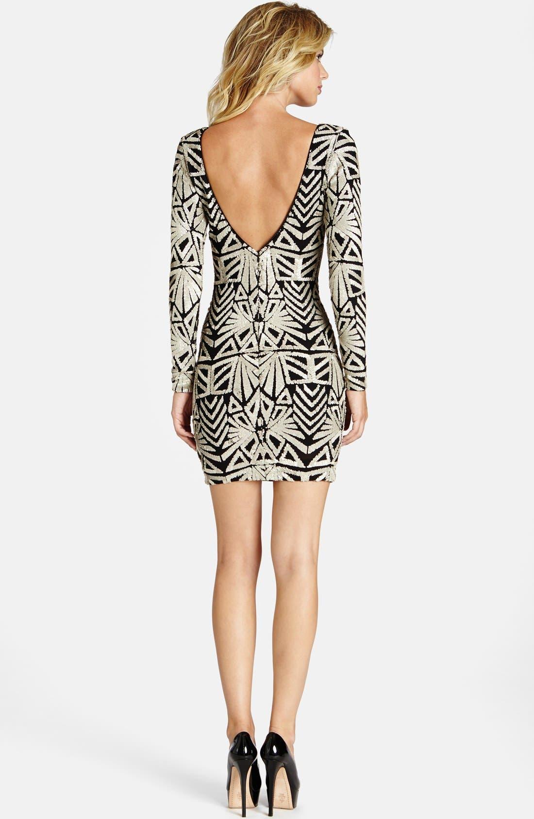 Alternate Image 2  - Dress the Population 'Lola' Sequin Body-Con Dress