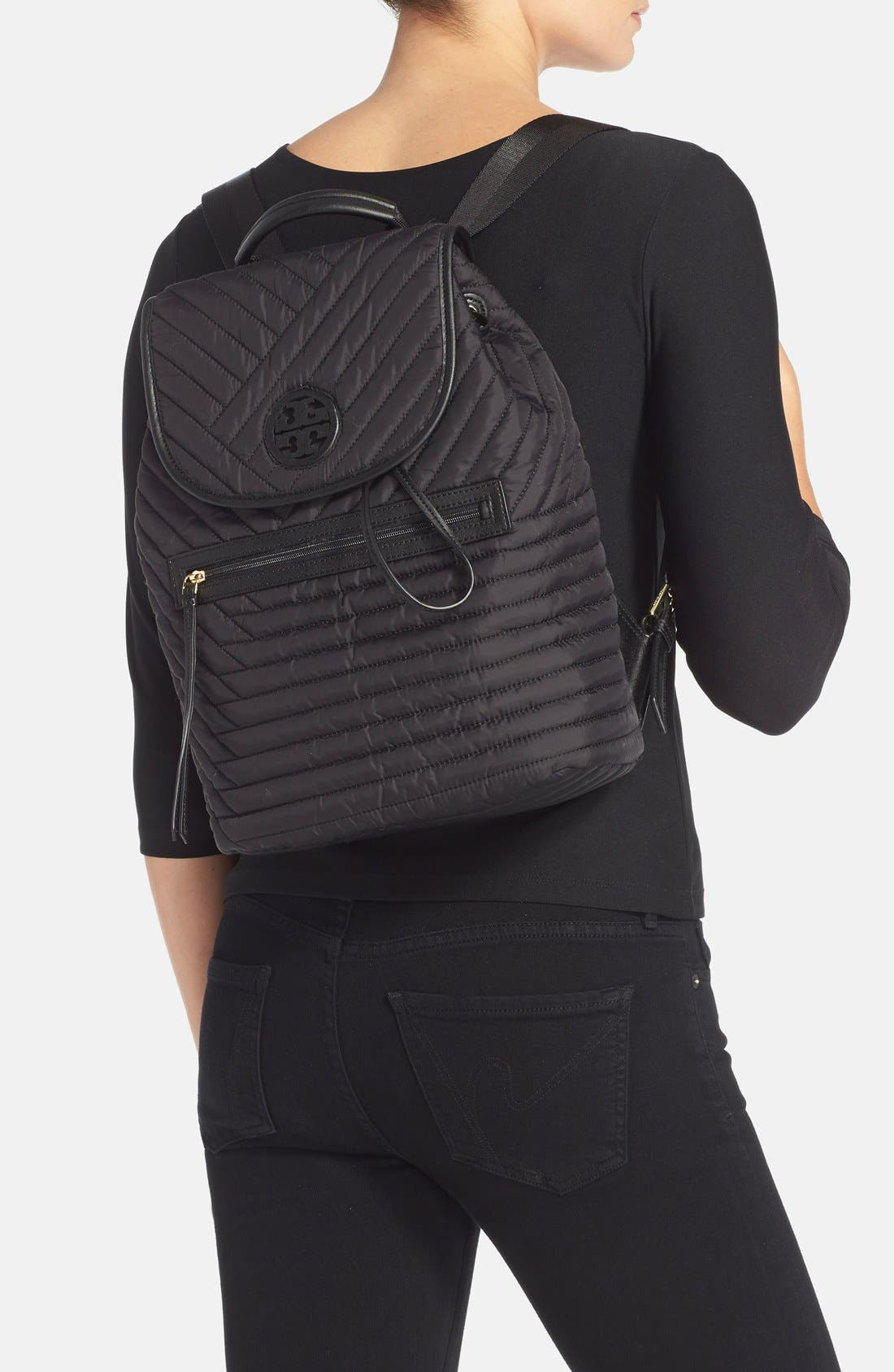 Alternate Image 2  - Tory Burch Quilted Nylon Backpack