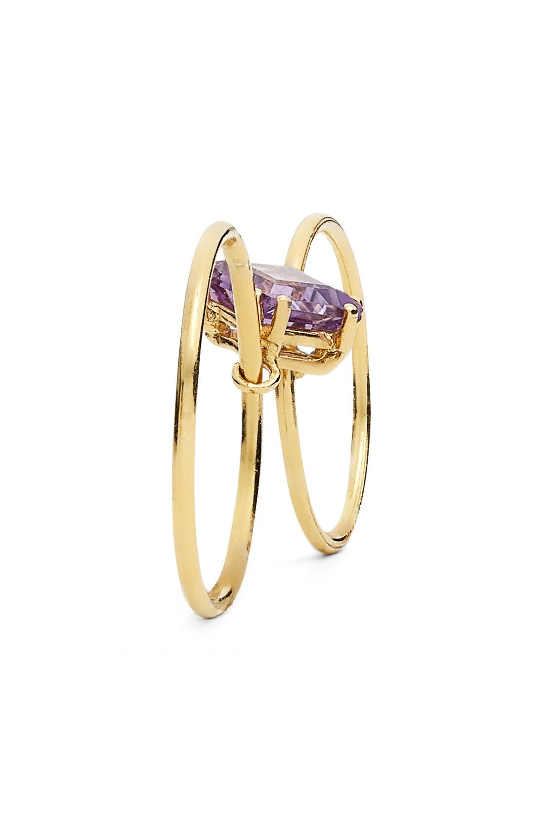 Alternate Image 2  - Sara Lasry Amethyst Double Slide Ring
