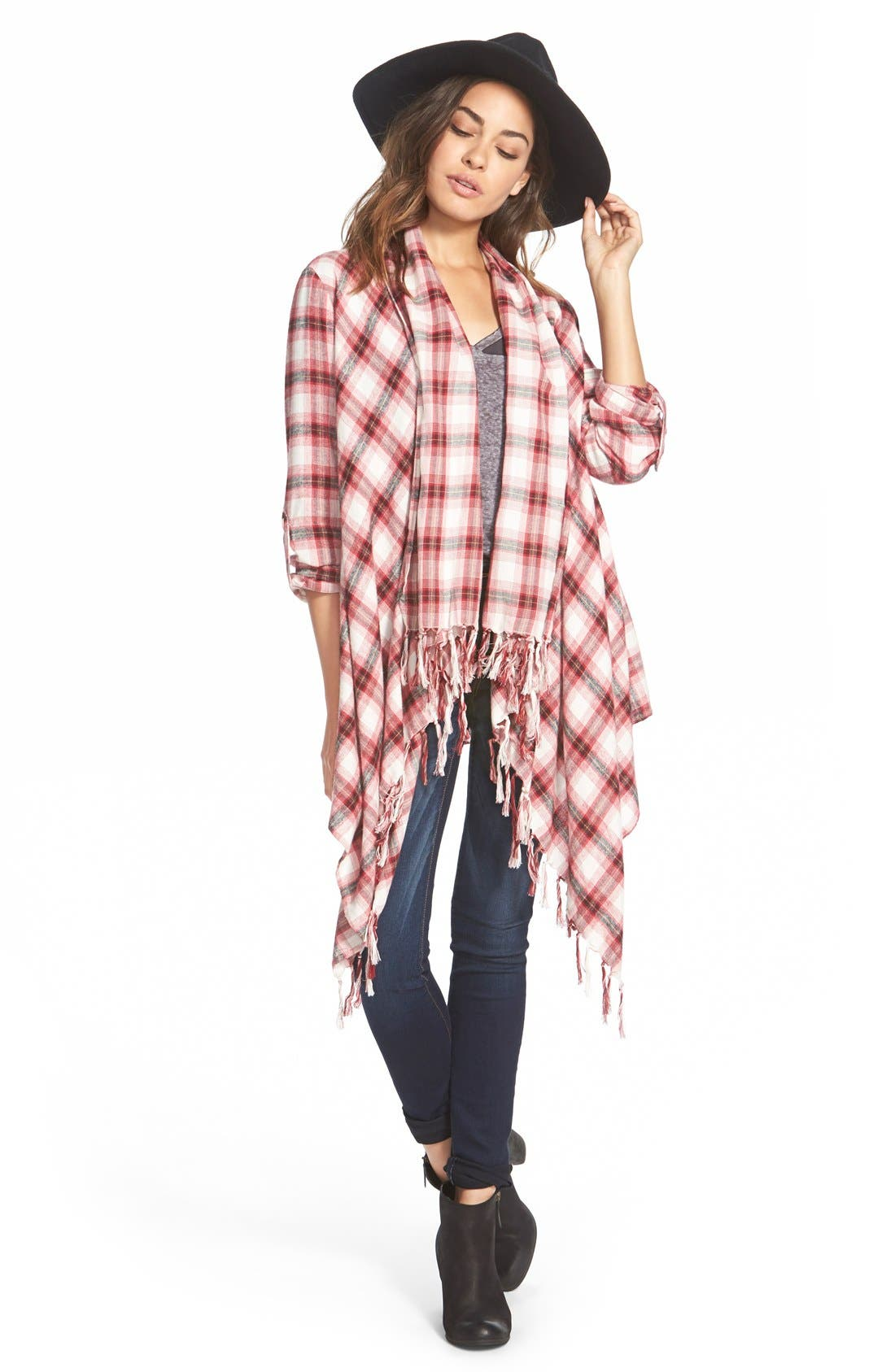 Alternate Image 1 Selected - Billabong 'Once Again' Flannel Cardigan