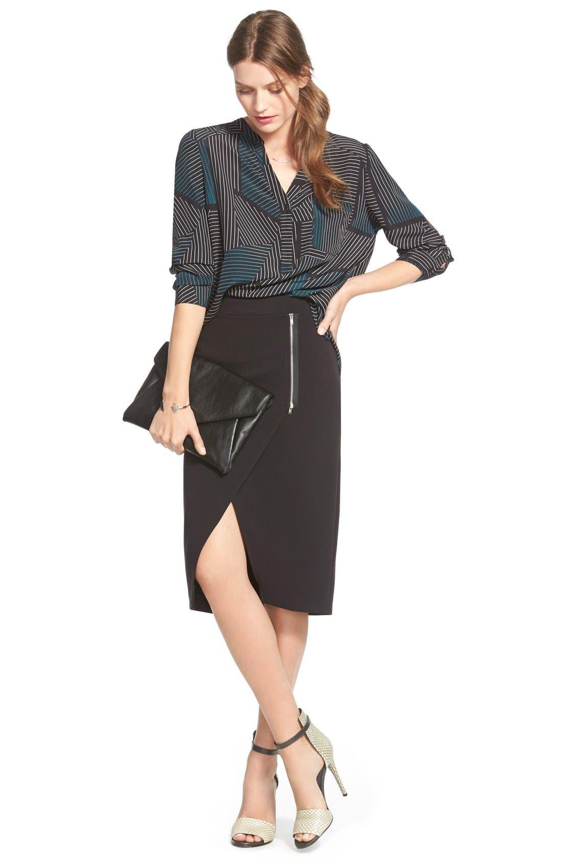 Alternate Image 2  - TrouvéWrap Front Pencil Skirt