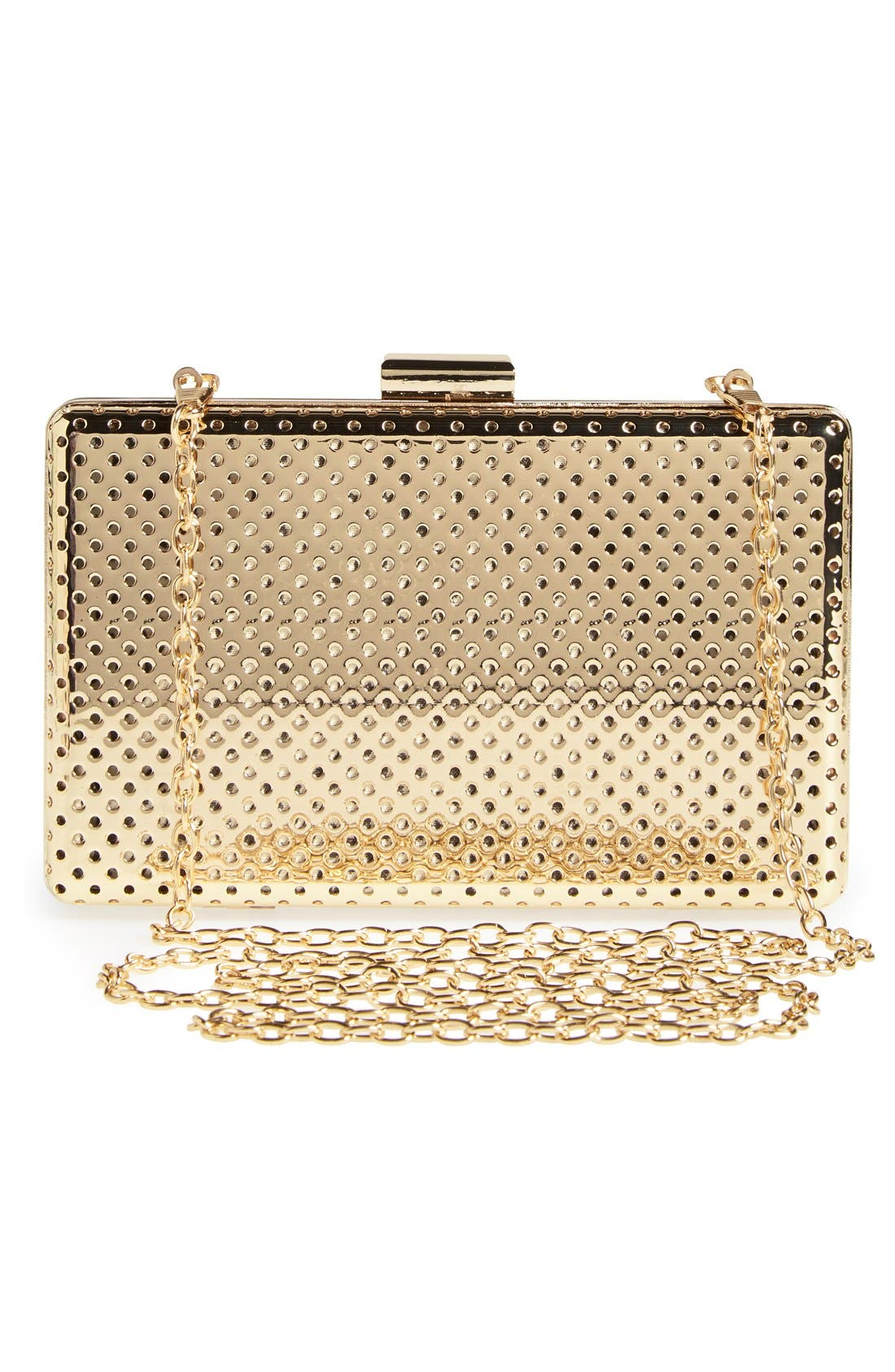 Alternate Image 3  - Sole Society 'Raquelle' Perforated Metal Box Clutch