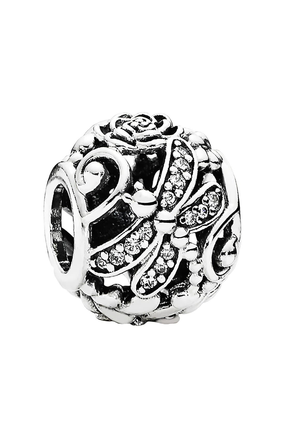 Alternate Image 1 Selected - PANDORA 'Dragonfly Meadow' Charm