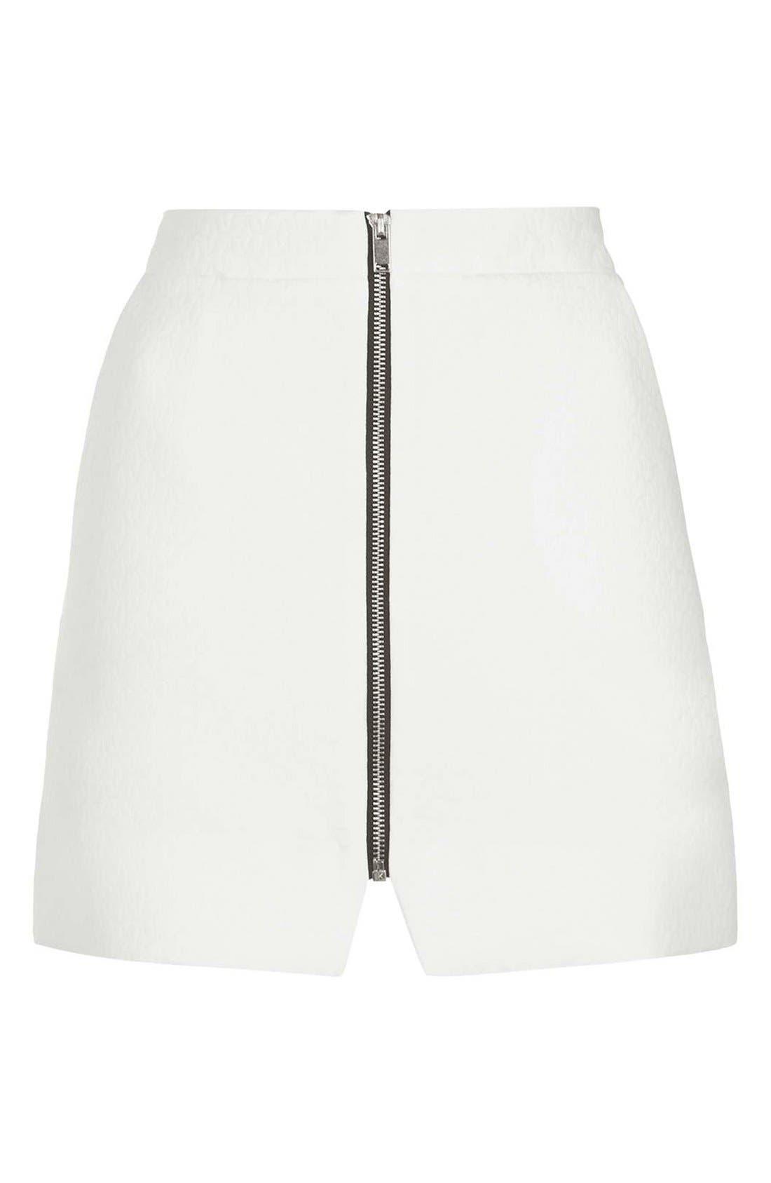 Alternate Image 4  - Topshop Geo Texture Miniskirt