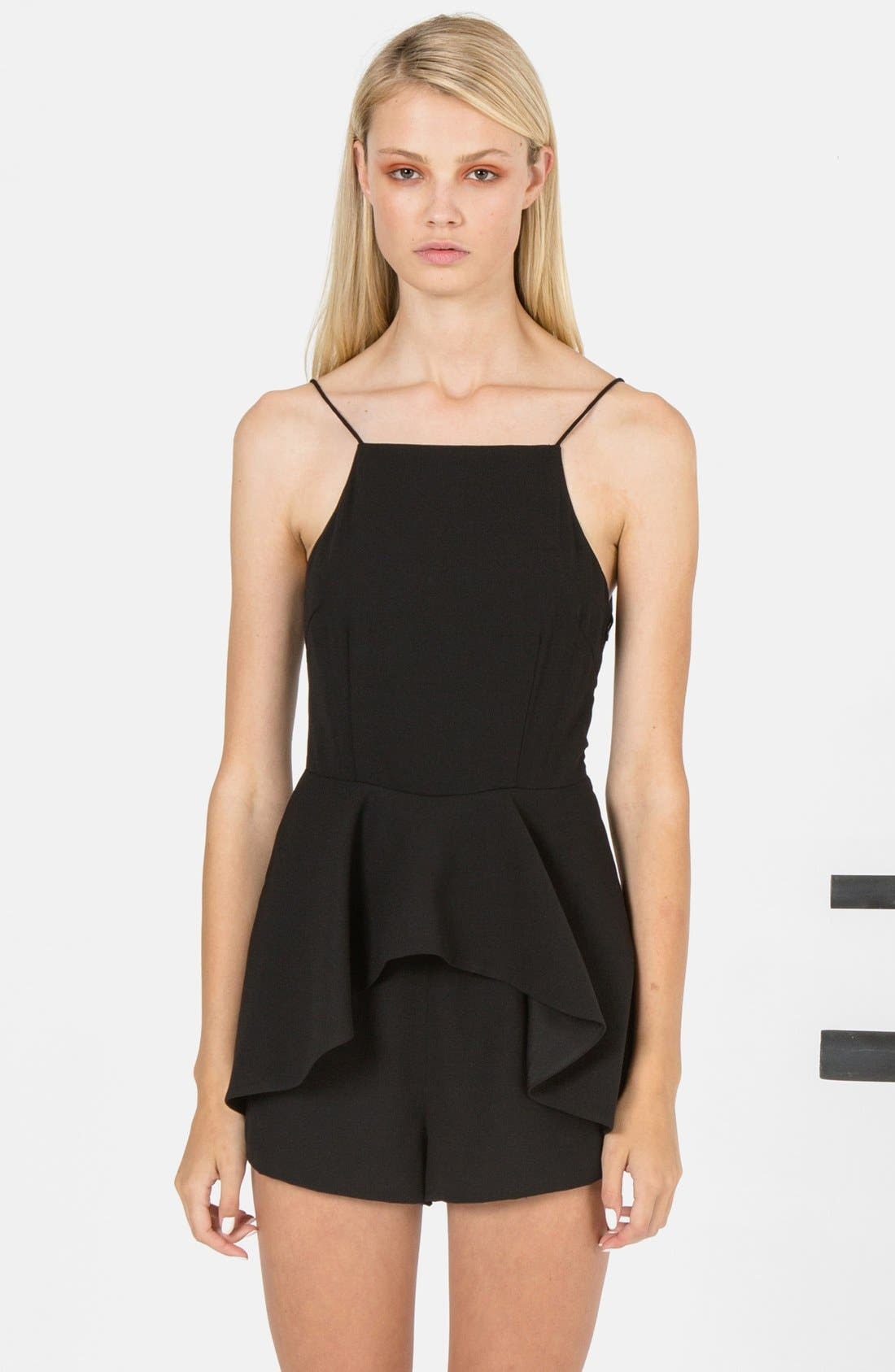 Alternate Image 4  - Finders Keepers the Label 'Speakerbox' Strappy Ruffle Romper