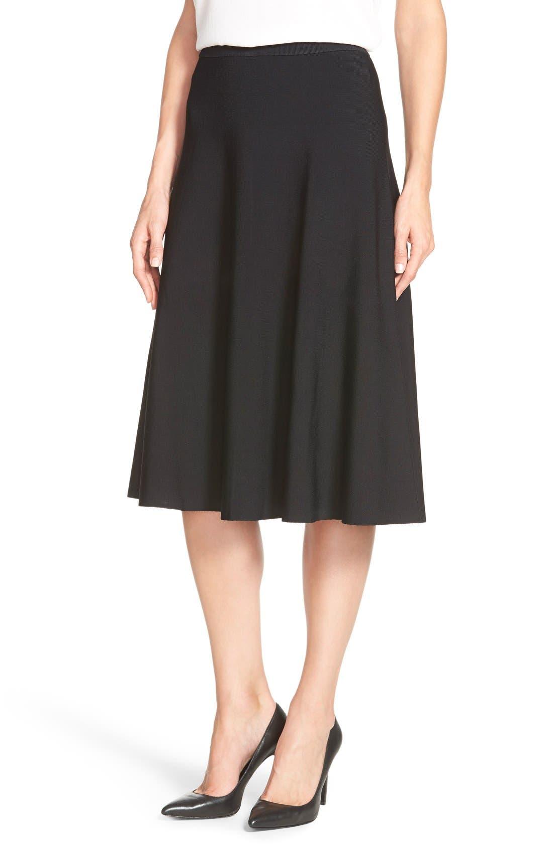 Alternate Image 1 Selected - Halogen® Flare Midi Skirt (Regular & Petite)