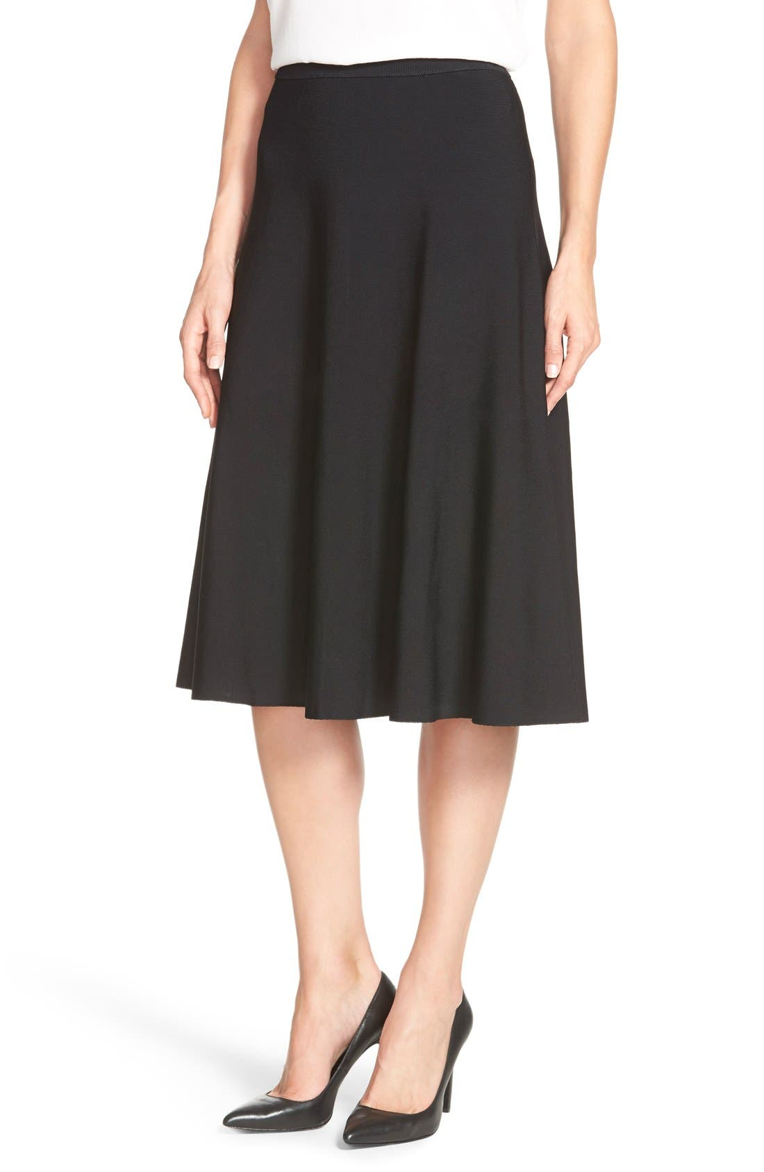 Main Image - Halogen® Flare Midi Skirt (Regular & Petite)