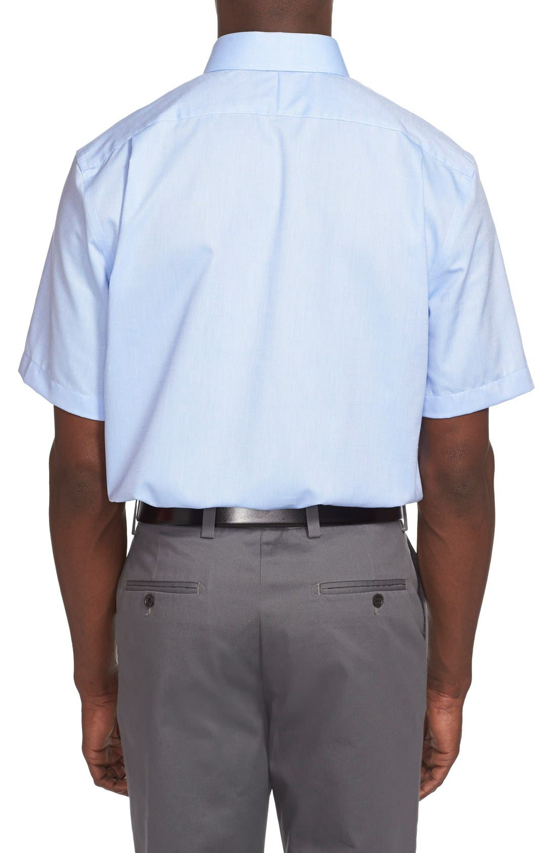 Alternate Image 3  - Nordstrom Men's Shop Traditional Fit Non-Iron Short Sleeve Dress Shirt (Online Only)