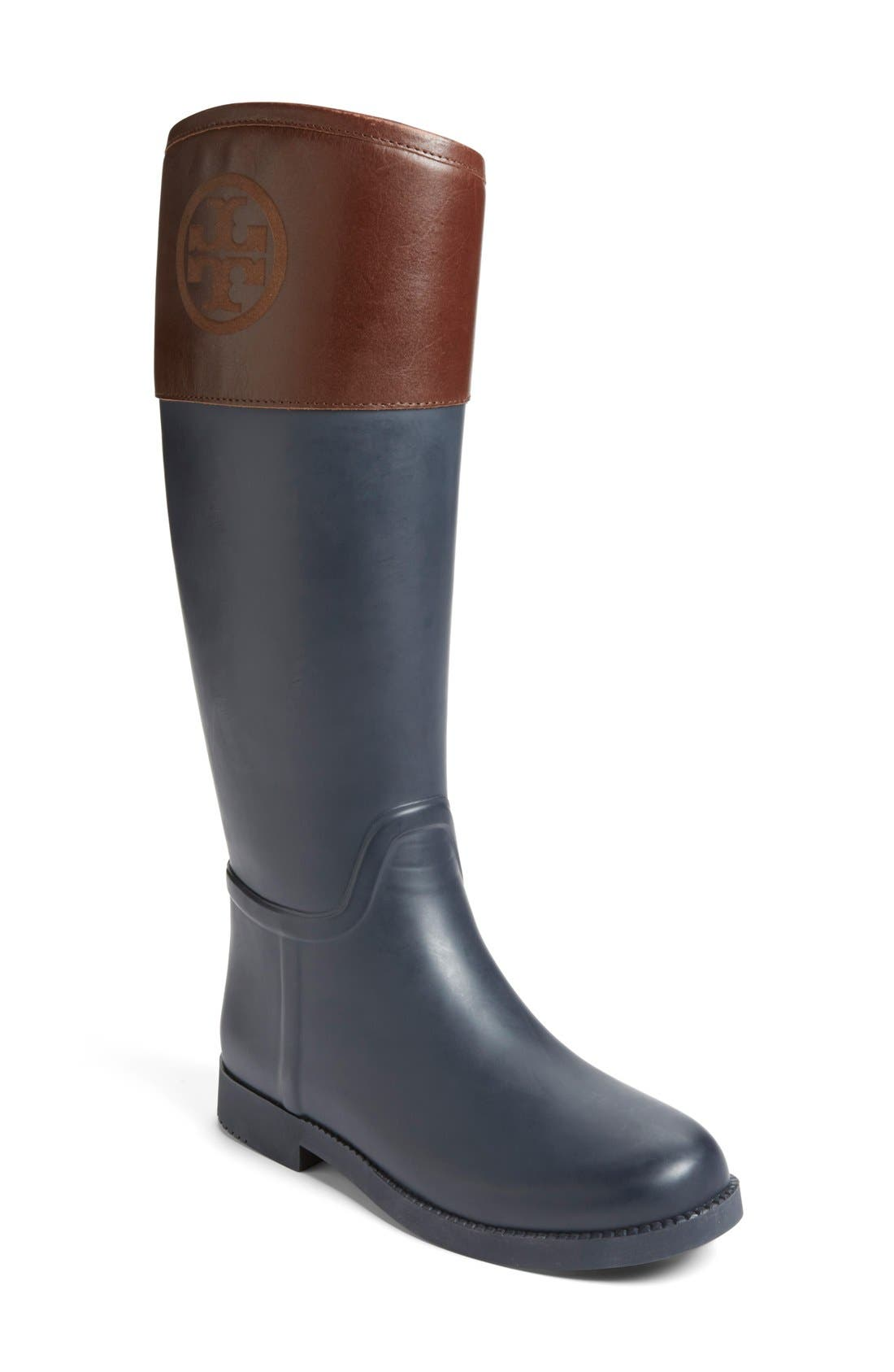 Alternate Image 1 Selected - Tory Burch 'Classic' Rain Boot (Women) (Nordstrom Exclusive)