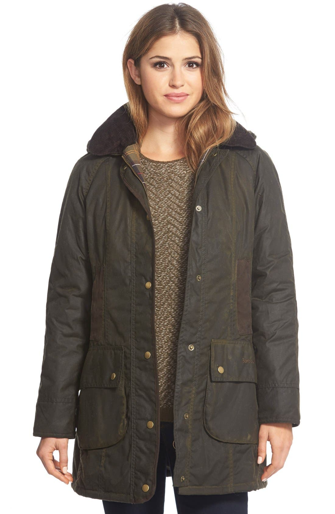 Main Image - Barbour 'Bower' Waxed CottonJacket