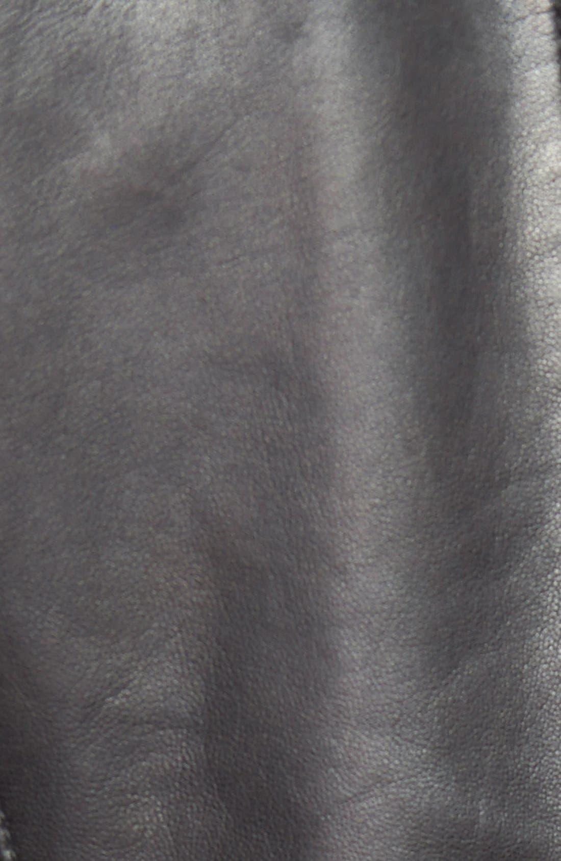 Alternate Image 3  - Trouvé Zip Sleeve Leather Jacket