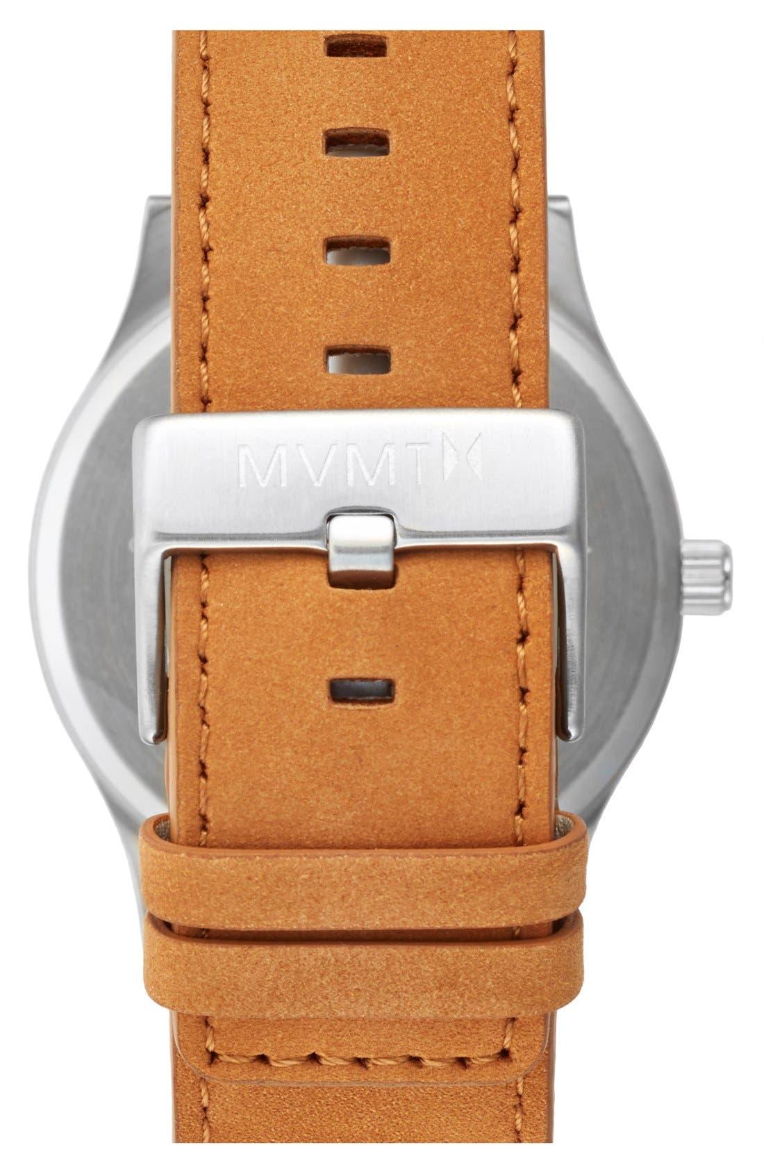 Alternate Image 2  - MVMT Leather Strap Watch, 45mm
