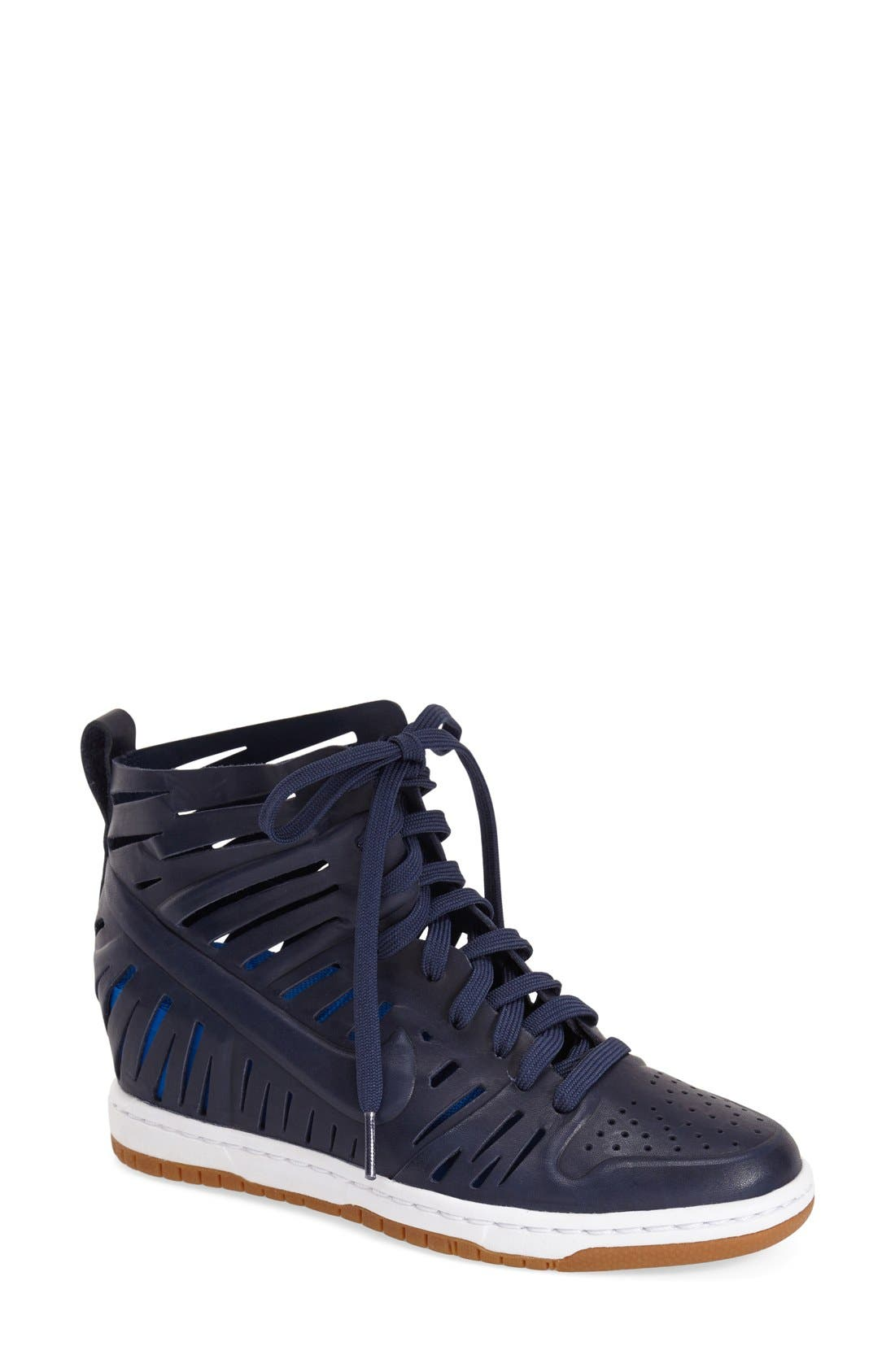 Alternate Image 1 Selected - Nike 'Dunk Sky Hi Joli' Hidden Wedge Sneaker (Women)