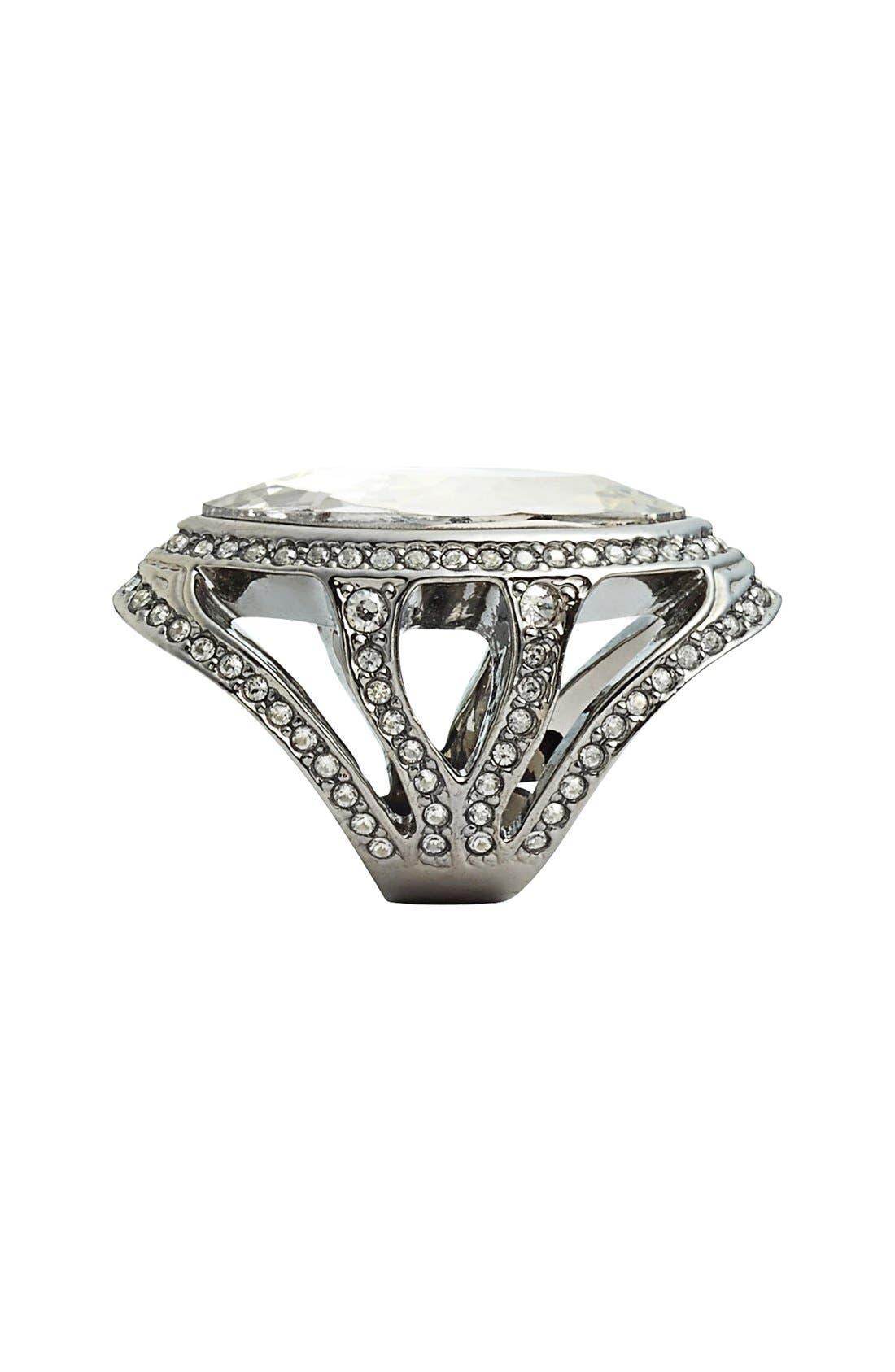 Alternate Image 2  - St. John Collection Swarovski Crystal Cocktail Ring