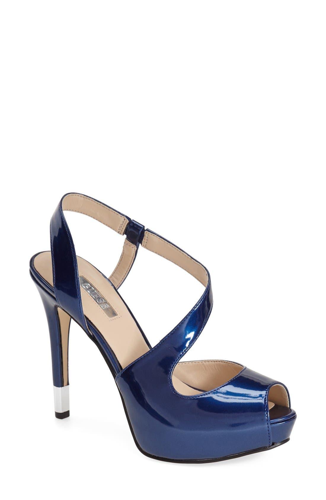 Main Image - GUESS 'Hilarie' Peep Toe Sandal (Women)