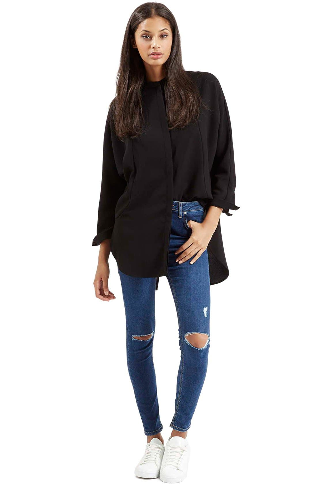 Alternate Image 2  - Topshop Moto 'Jamie' High Rise Ripped Jeans