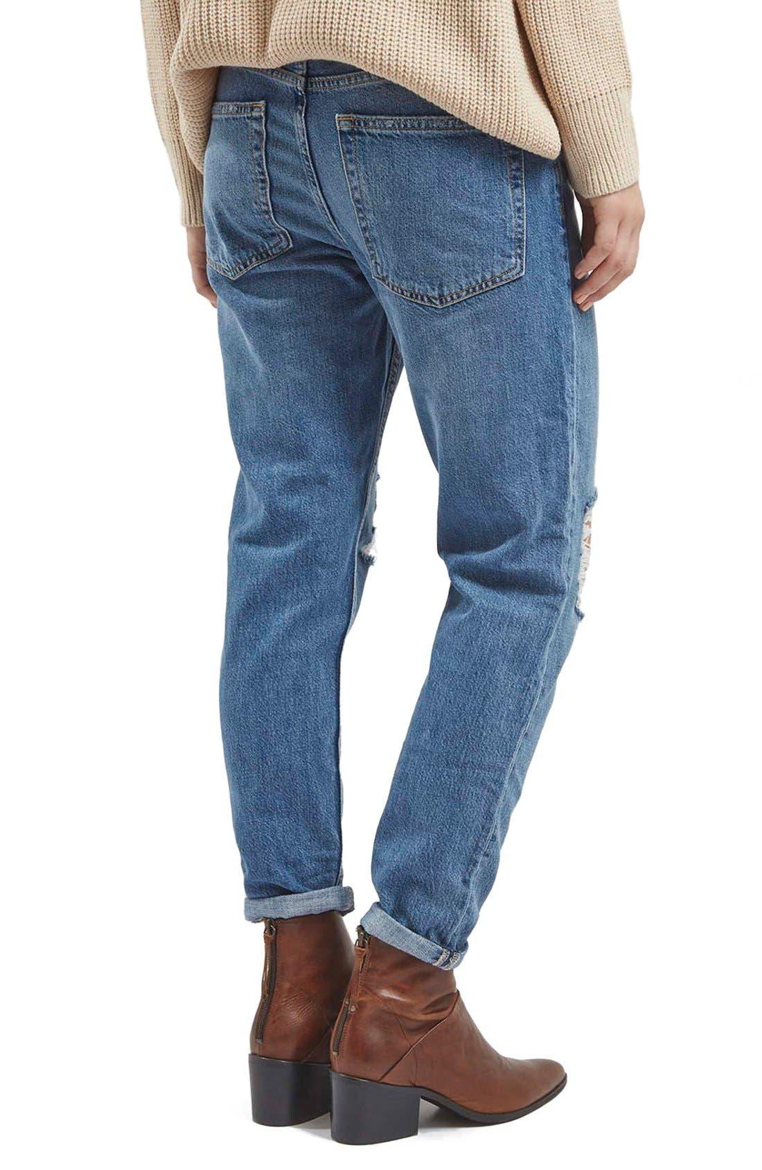 Alternate Image 3  - TopshopMoto'Hayden' Ripped Boyfriend Jeans (Tall)