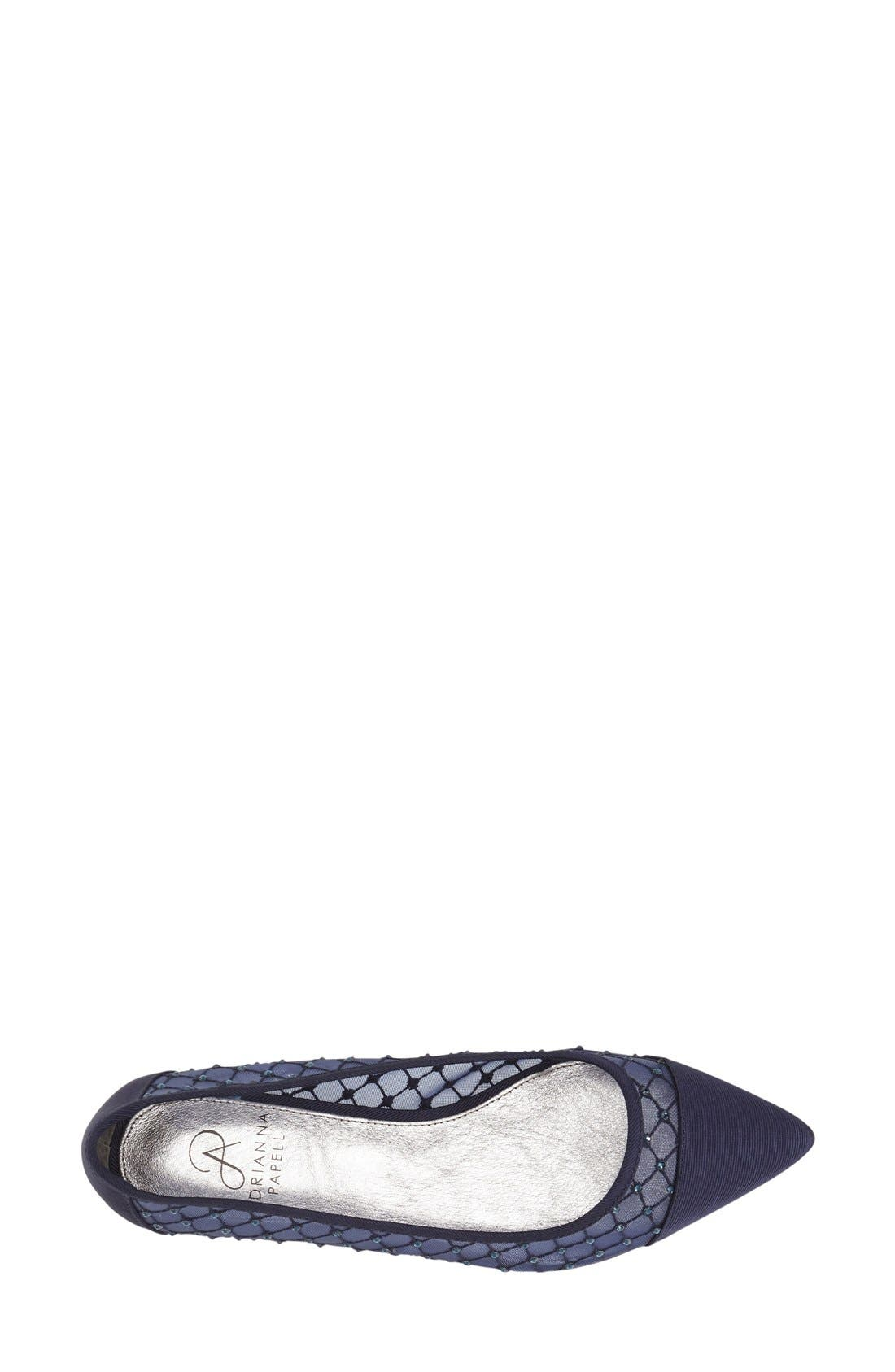 Alternate Image 3  - Adrianna Papell Jeweled Mesh Ballet Flat (Women)