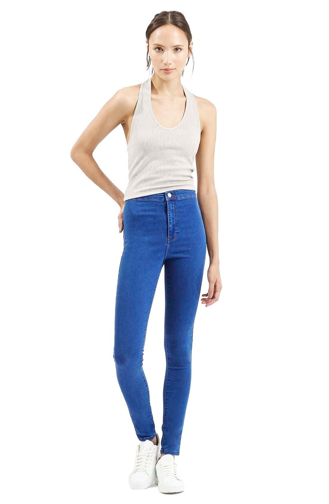 Alternate Image 2  - Topshop'Joni' High Rise Skinny Jeans (Bright Blue)