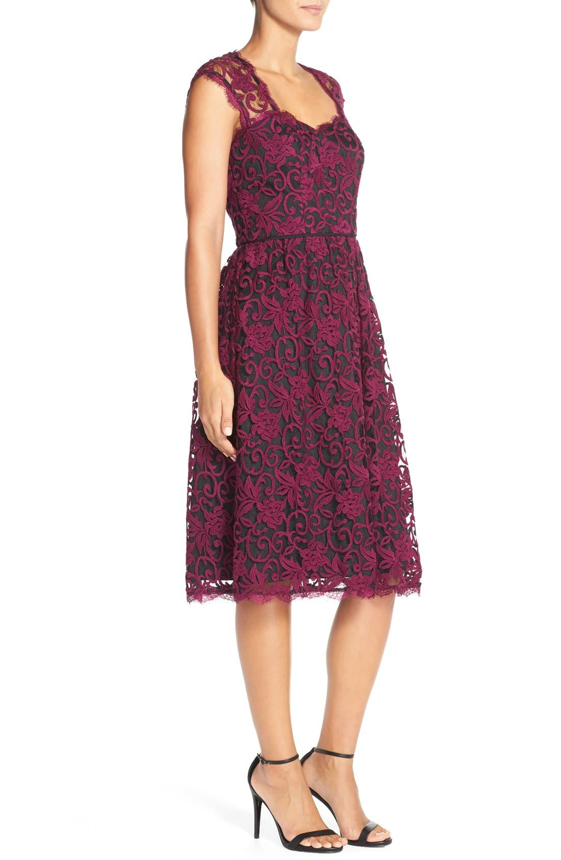 Alternate Image 4  - Adrianna PapellIllusion Lace Fit & Flare Dress