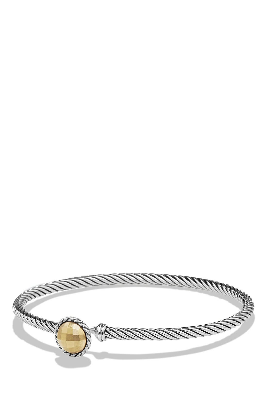 David Yurman 'Châtelaine' Bracelet with Gold Dome and 18K Gold