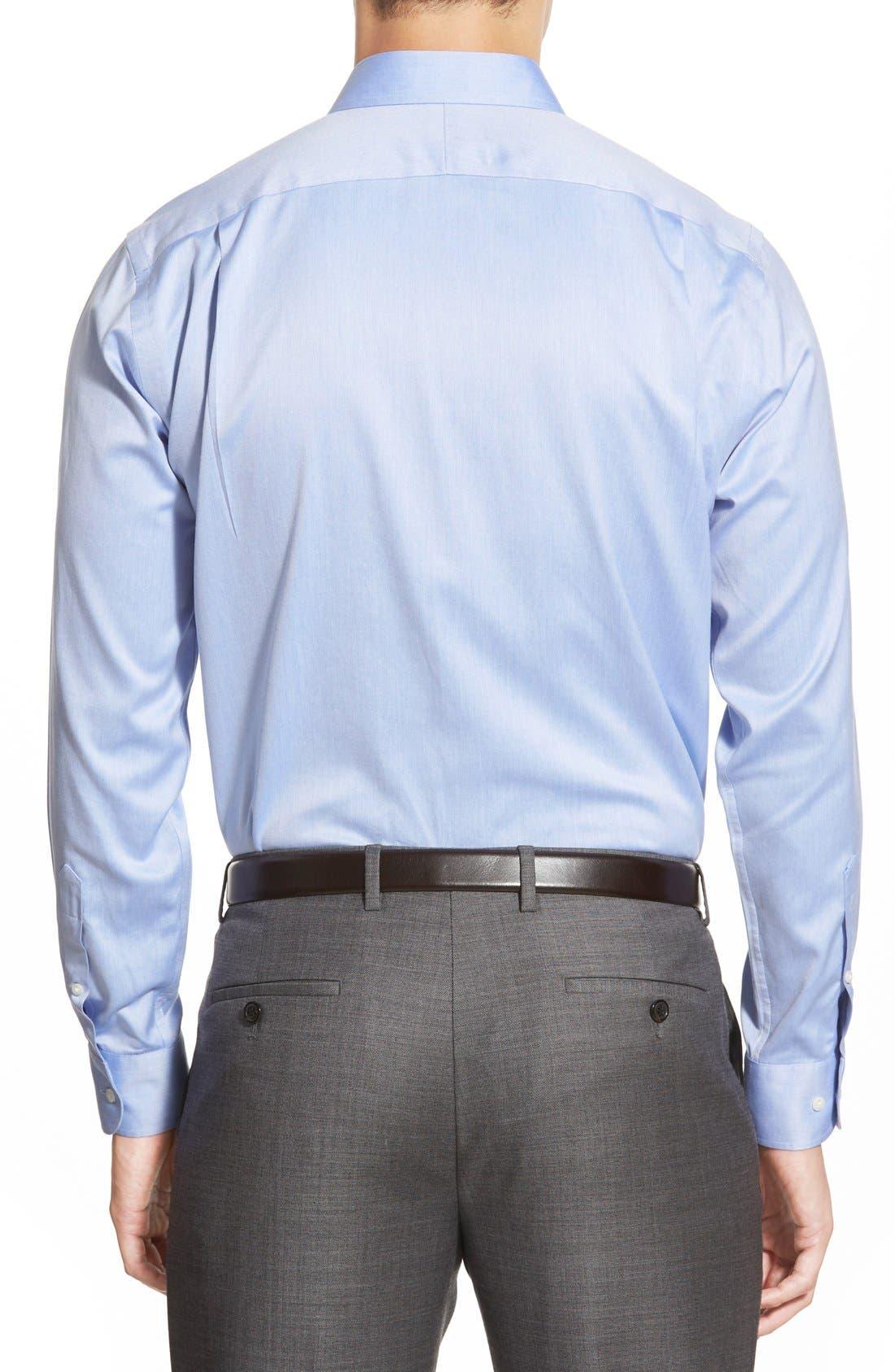 Alternate Image 3  - Nordstrom Men's Shop Smartcare™ Trim Fit Twill Dress Shirt