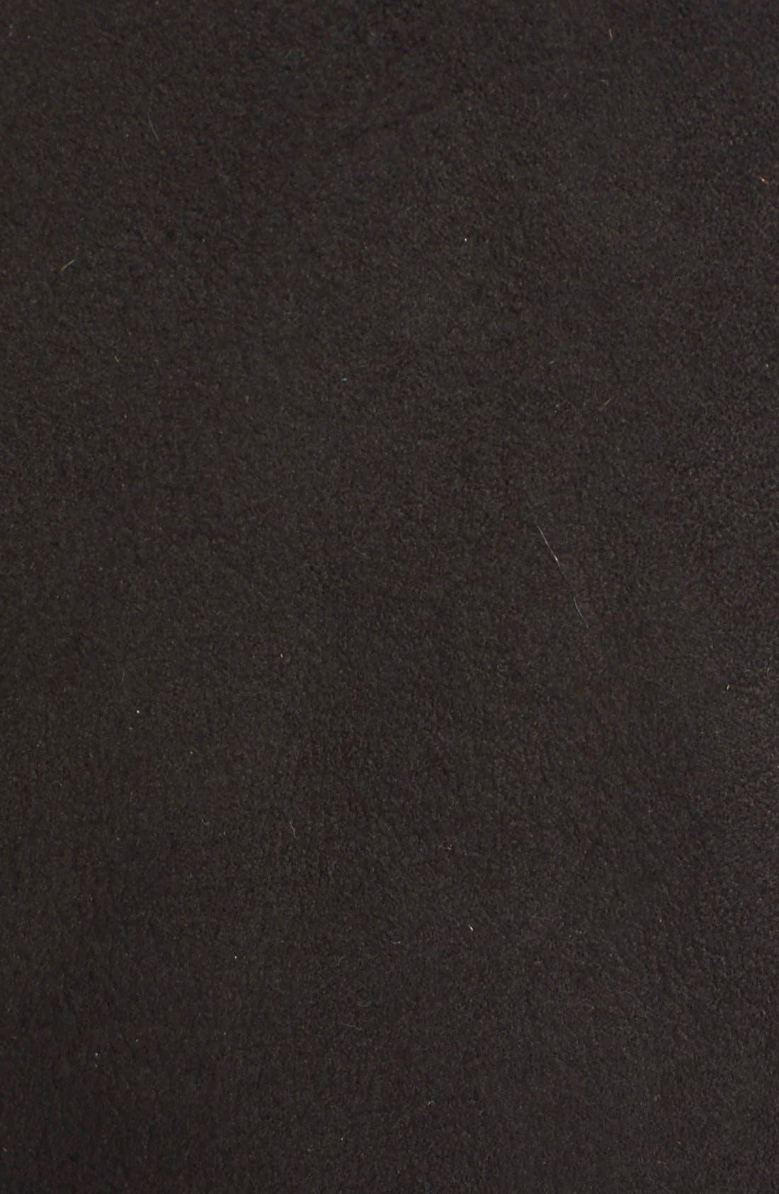 Alternate Image 3  - BurberryLondon 'Helmington' Collarless Belted Genuine ShearlingCoat
