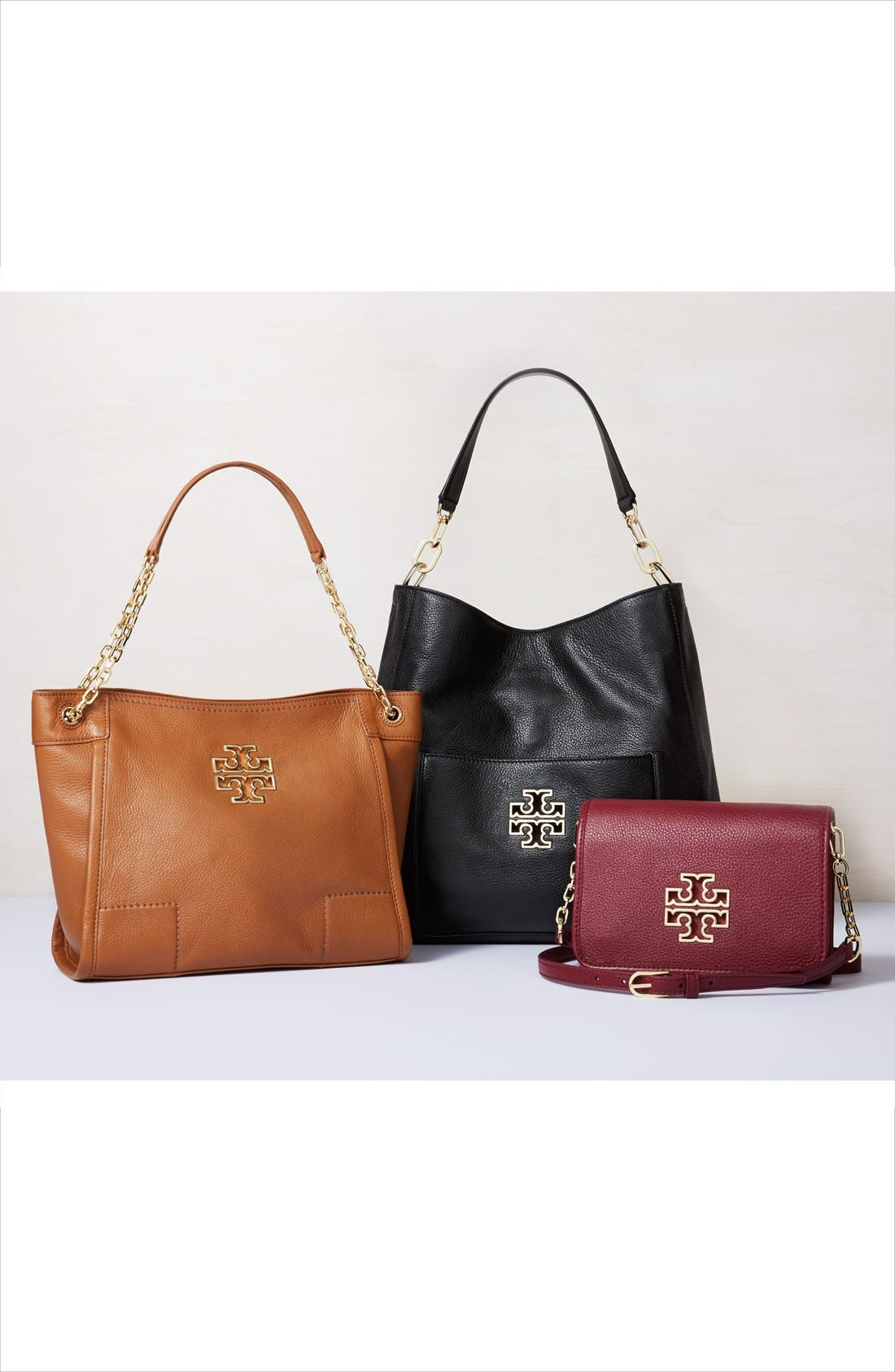Alternate Image 5  - Tory Burch 'Small Britten' Leather Slouchy Tote